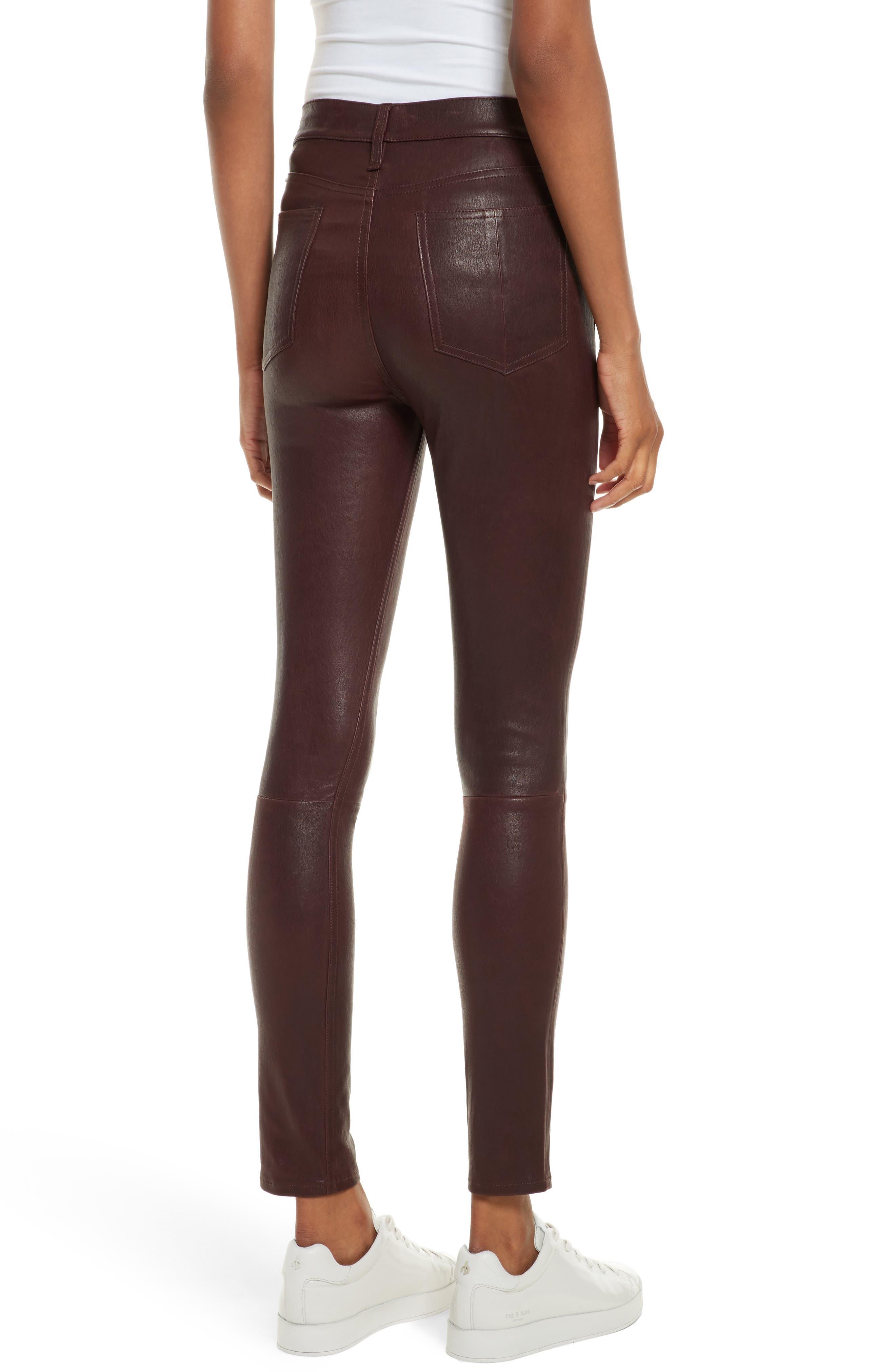 Lambskin Leather Pants,                             Alternate thumbnail 2, color,                             230