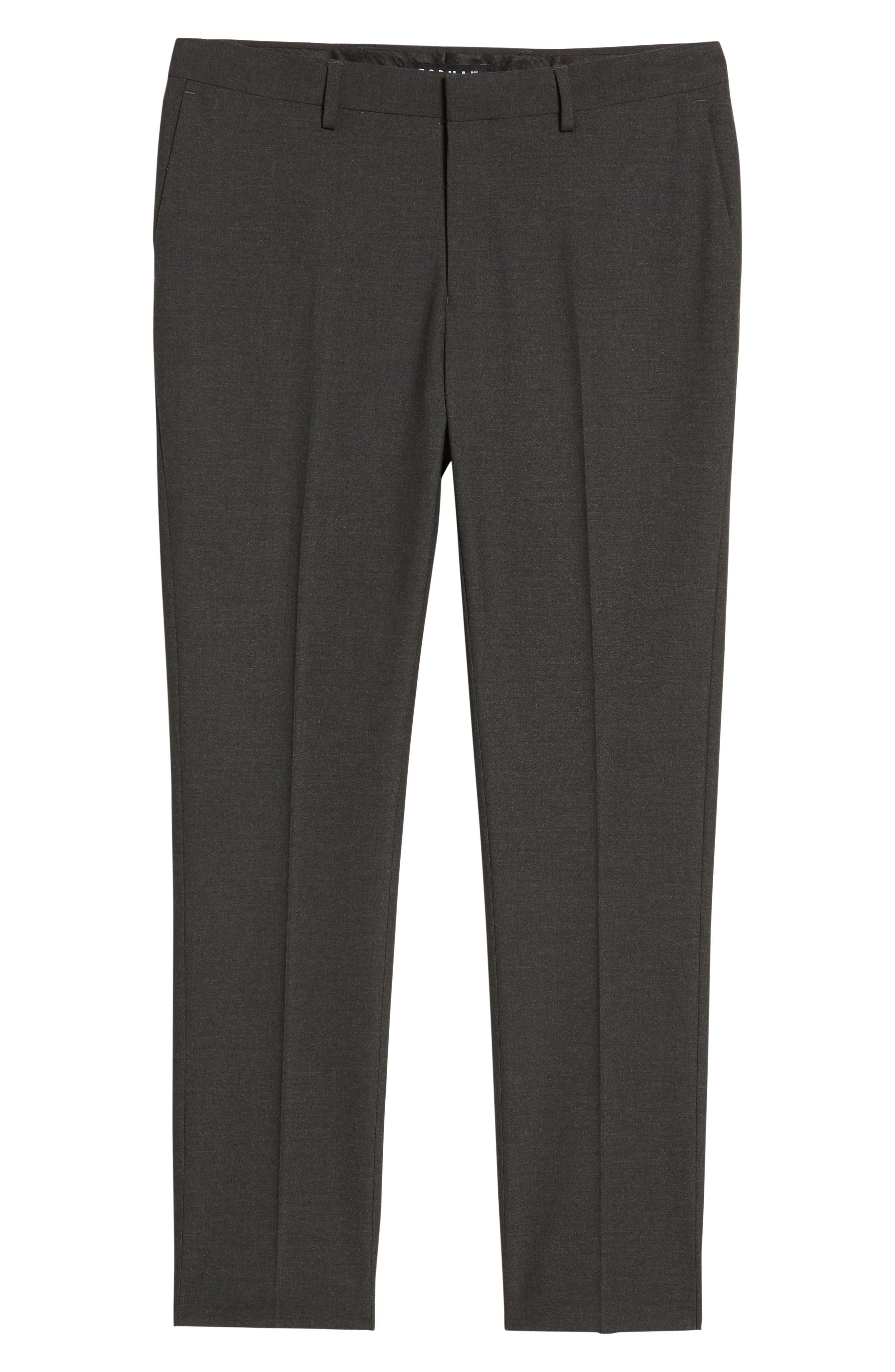 Black Skinny Fit Trousers,                             Alternate thumbnail 11, color,