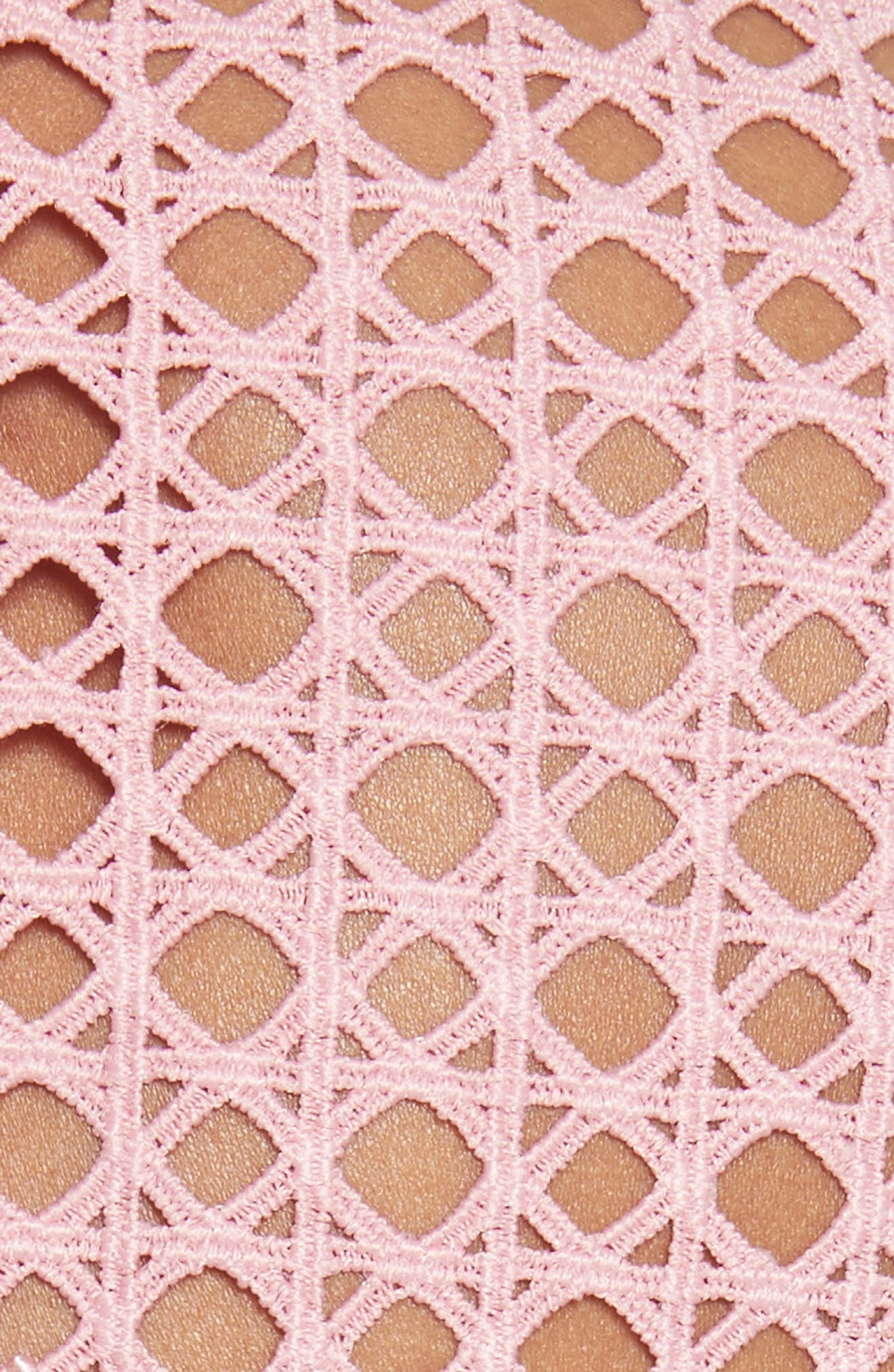 Crosshatch Frill Minidress,                             Alternate thumbnail 5, color,                             650