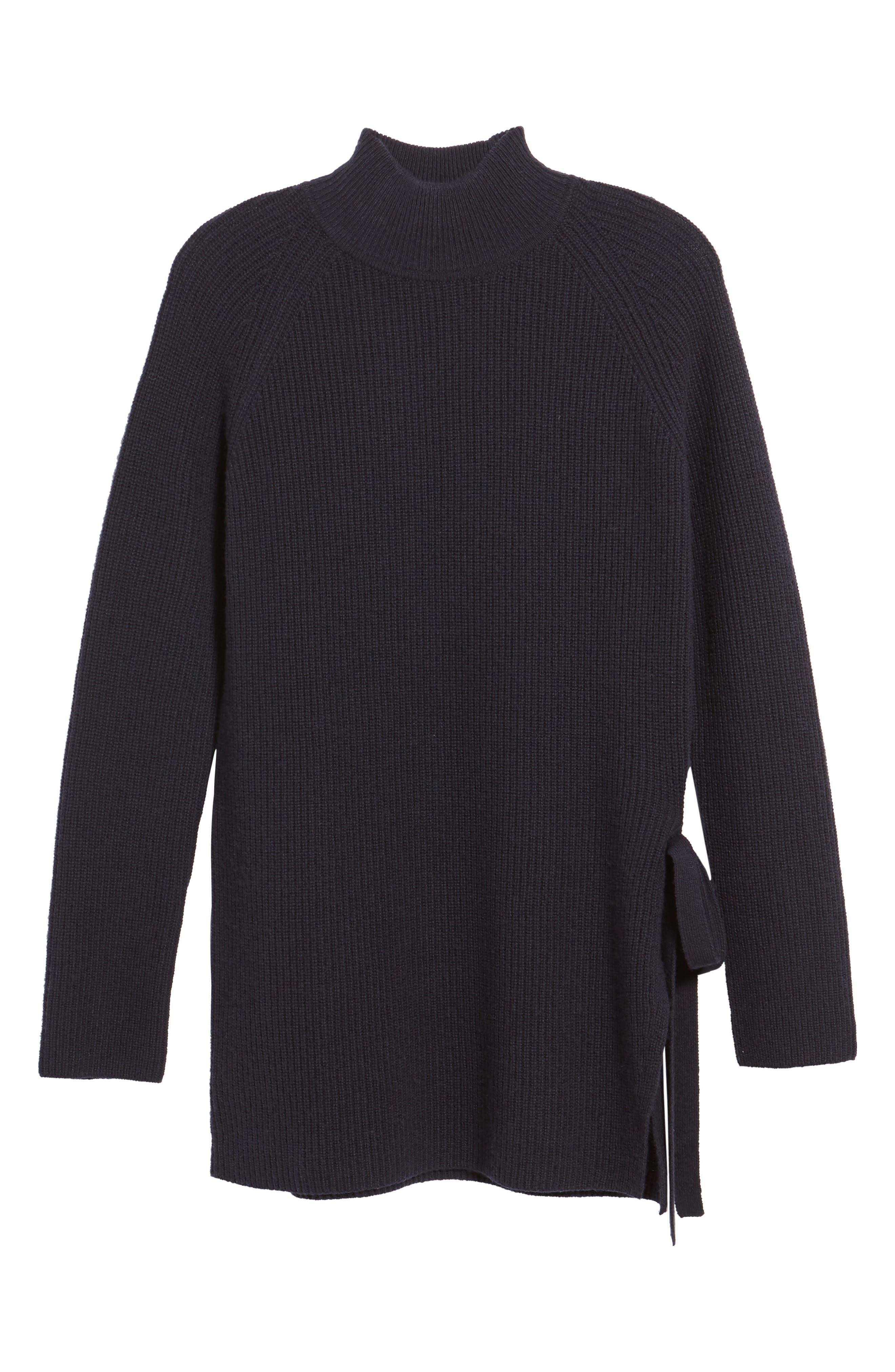 Filda Tie Side Wool Blend Sweater,                             Alternate thumbnail 6, color,                             480