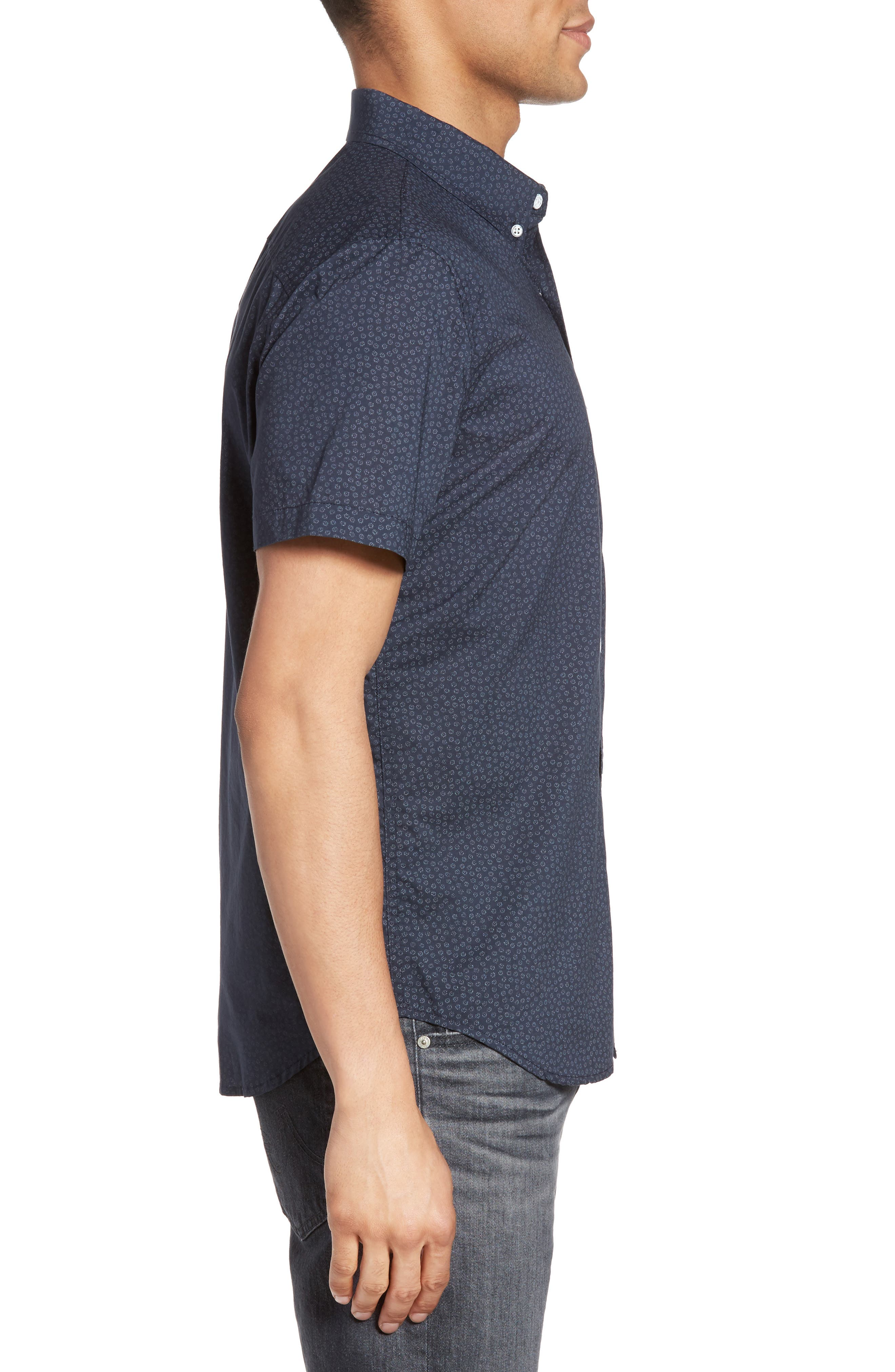 Nash Cotton Sport Shirt,                             Alternate thumbnail 3, color,                             401
