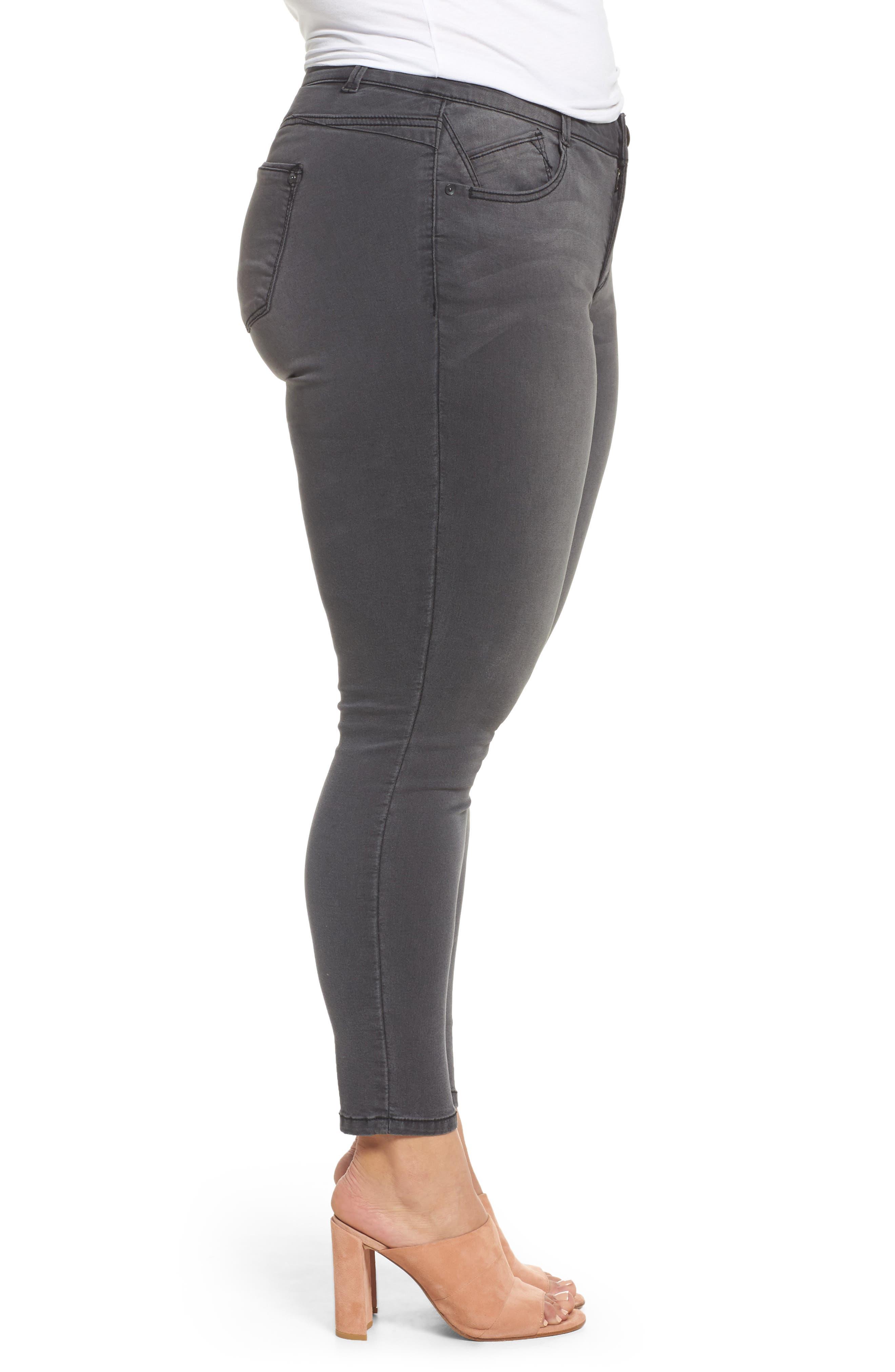 Ab-solution Ankle Skimmer Jeans,                             Alternate thumbnail 3, color,                             020