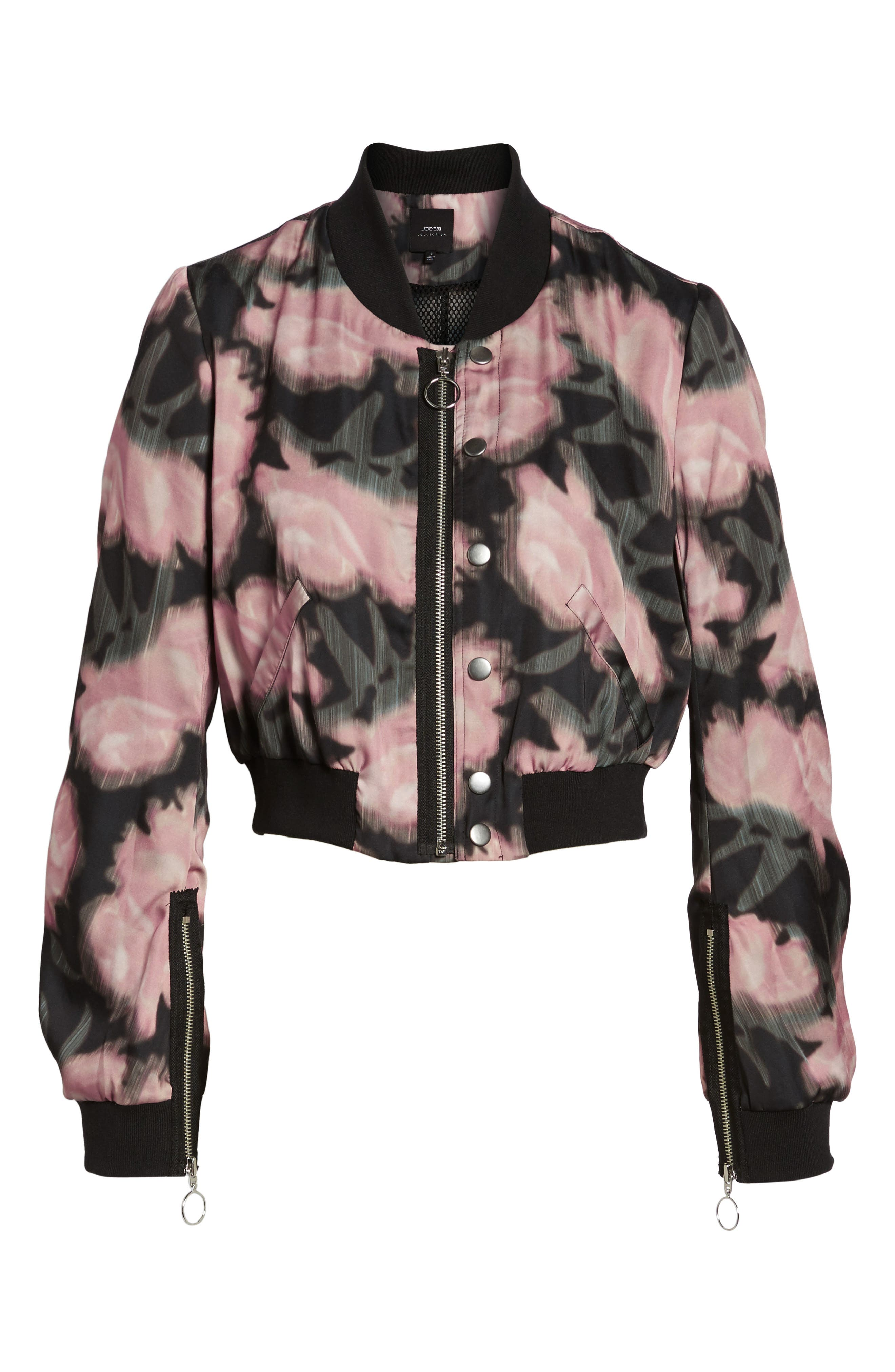 Denni Floral Bomber Jacket,                             Alternate thumbnail 5, color,                             017