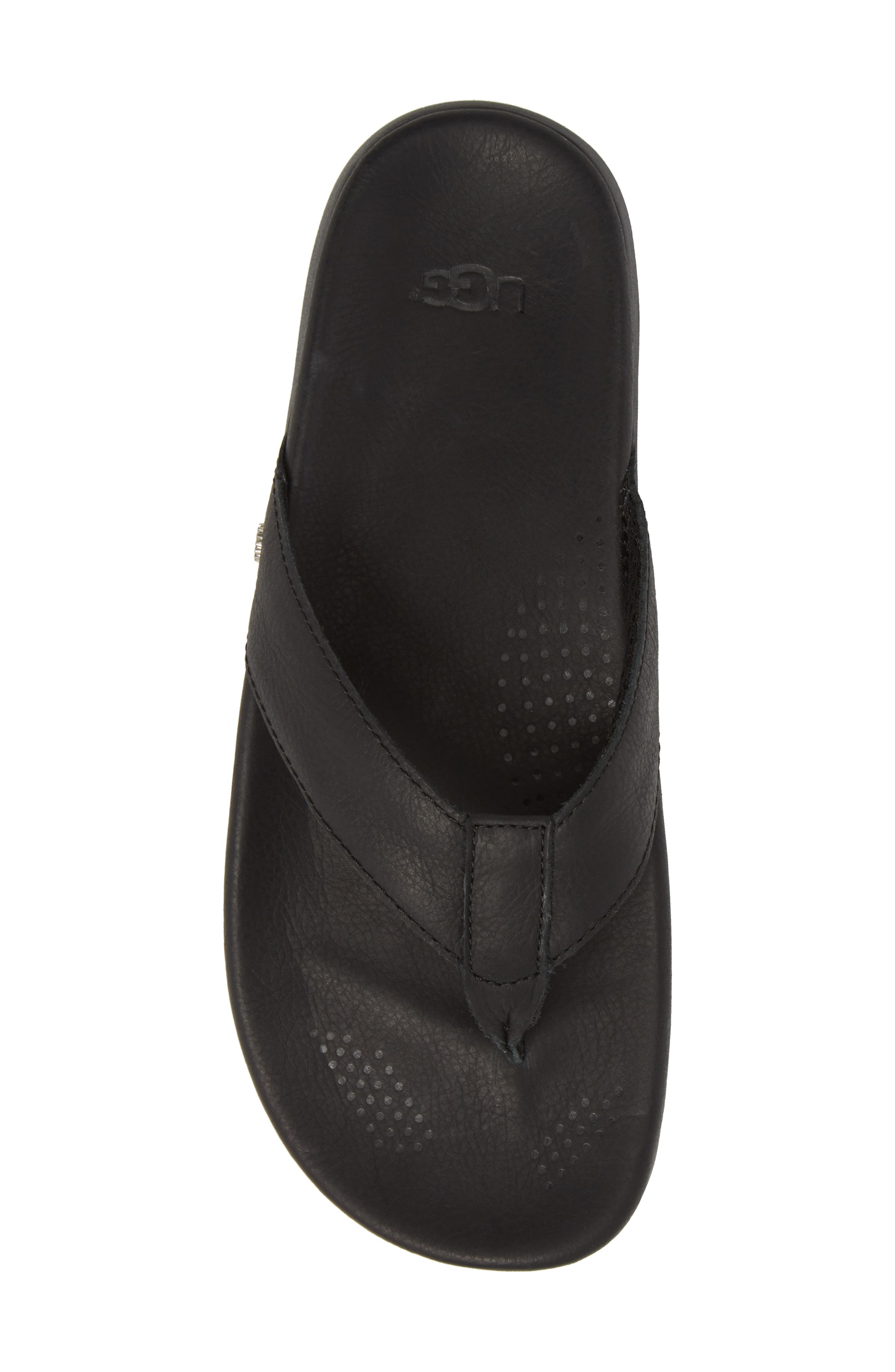 UGG<SUP>®</SUP>,                             Tenoch Luxe Flip Flop,                             Alternate thumbnail 5, color,                             001