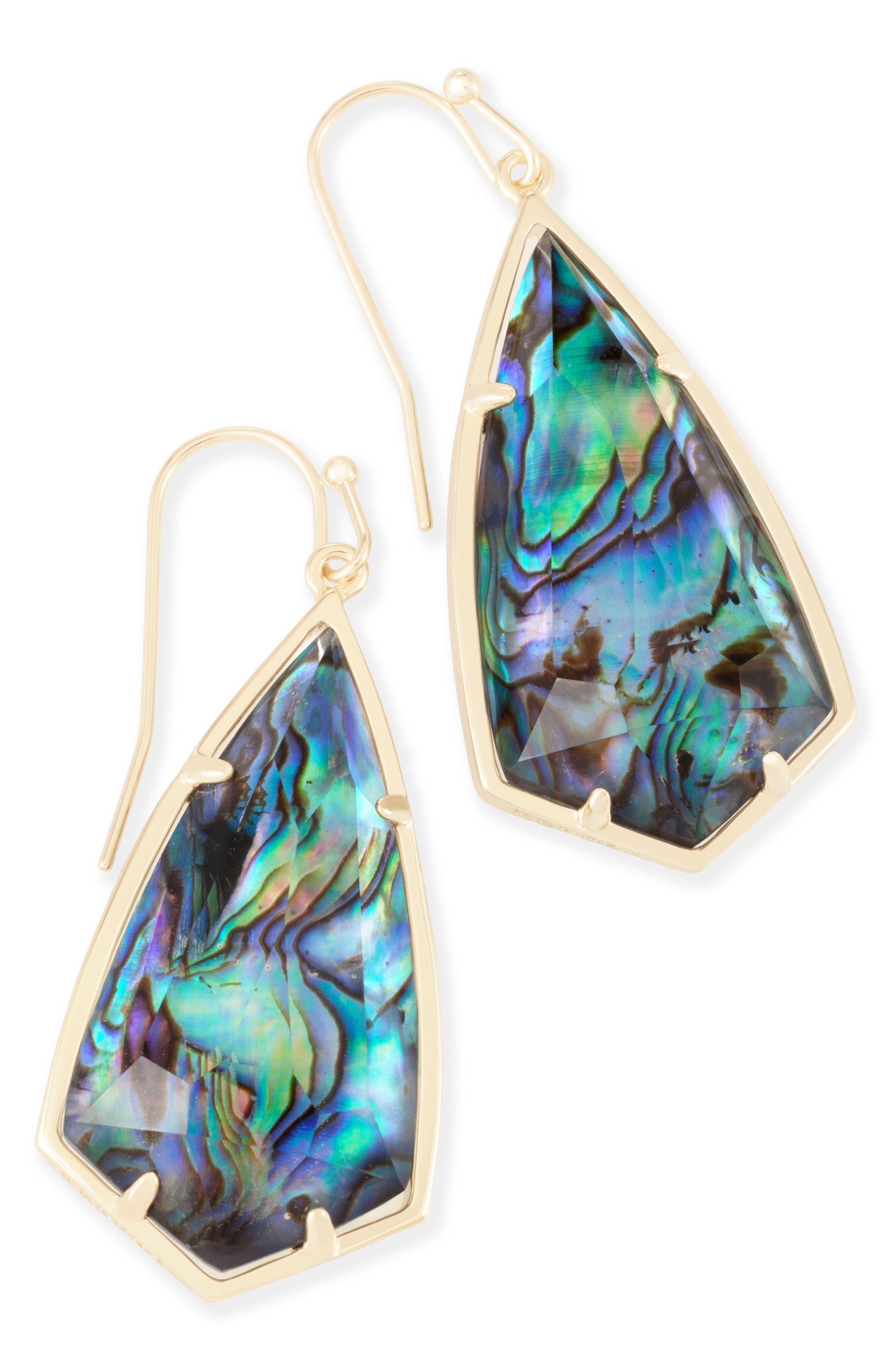 Carla Semiprecious Stone Drop Earrings,                             Alternate thumbnail 23, color,