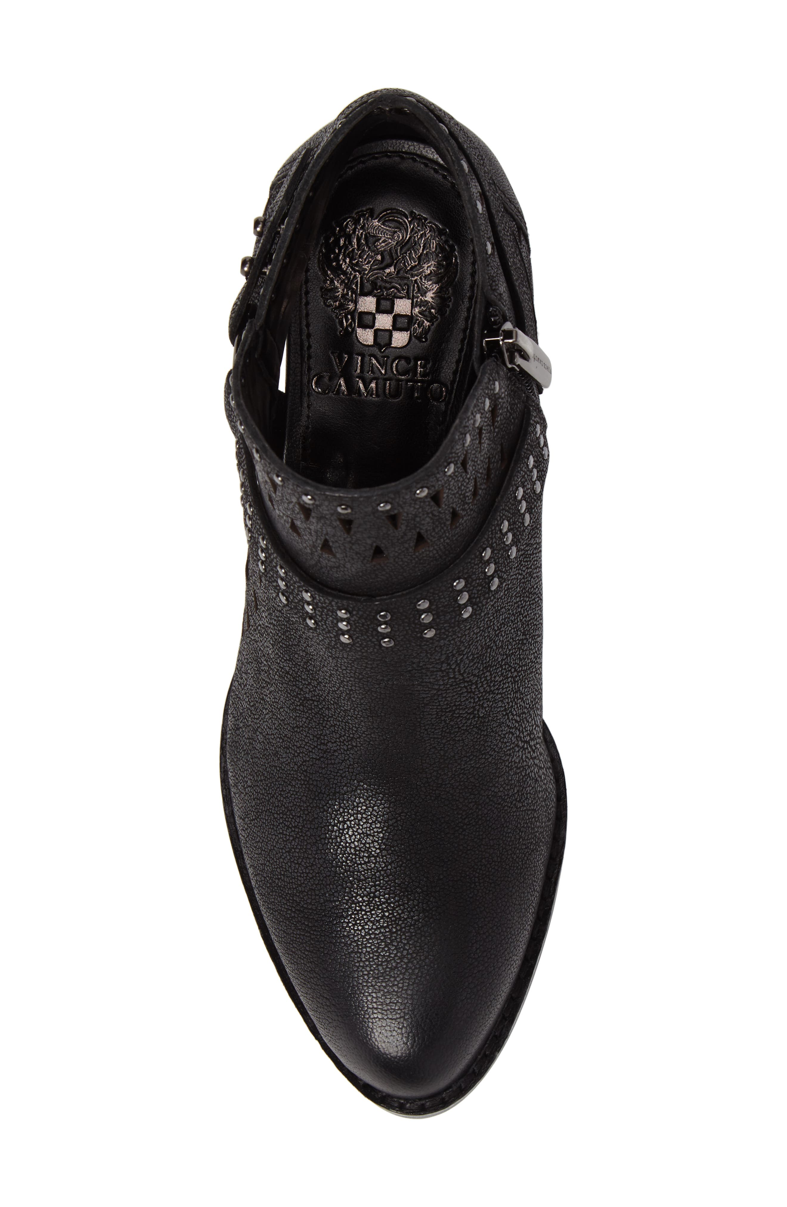 Calley Strappy Studded Bootie,                             Alternate thumbnail 5, color,                             001