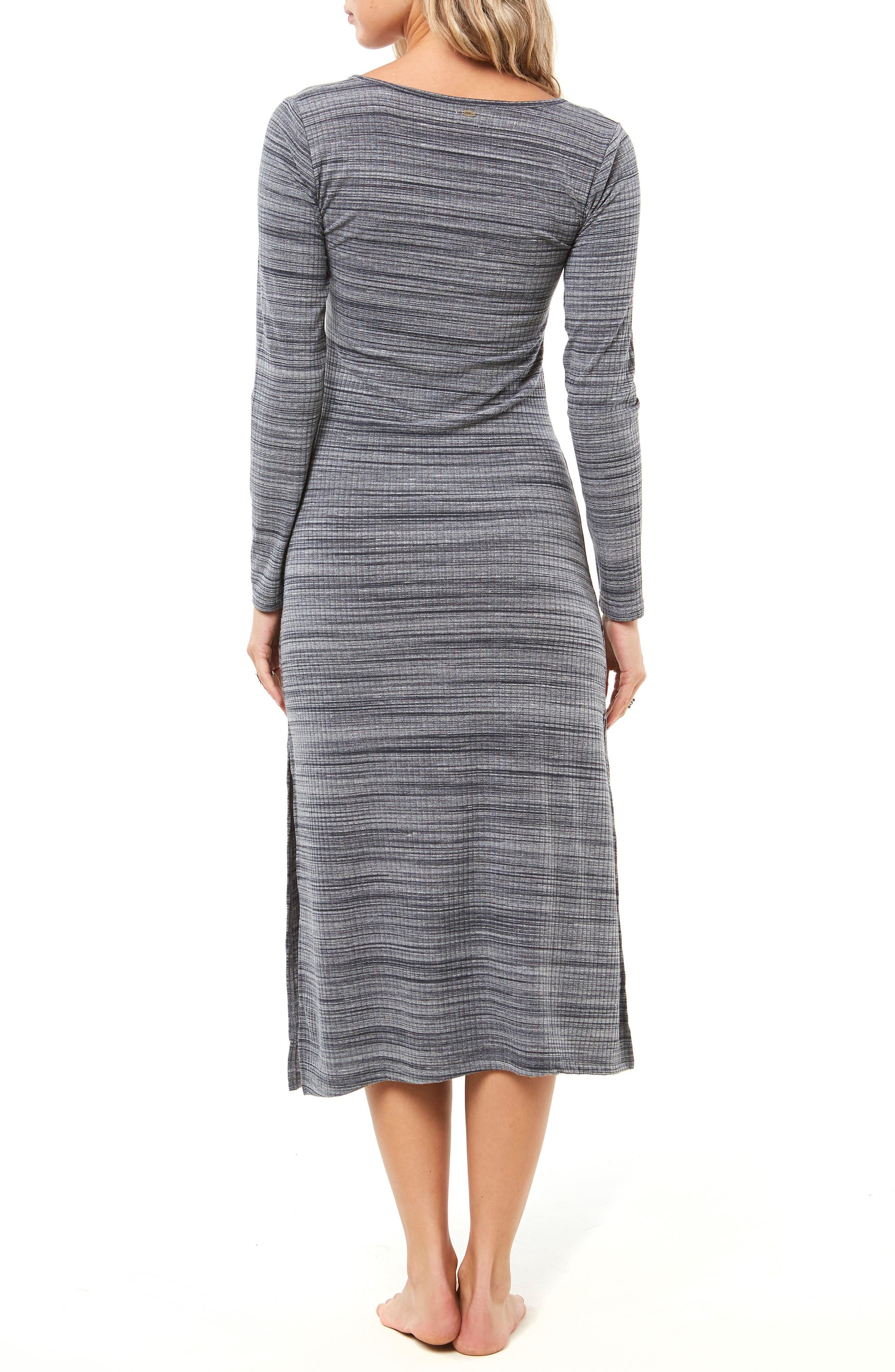 Shellsea Knit Midi Dress,                             Alternate thumbnail 2, color,                             INDIAN TEAL