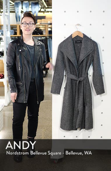 Elliot Wool Blend Wrap Coat, sales video thumbnail