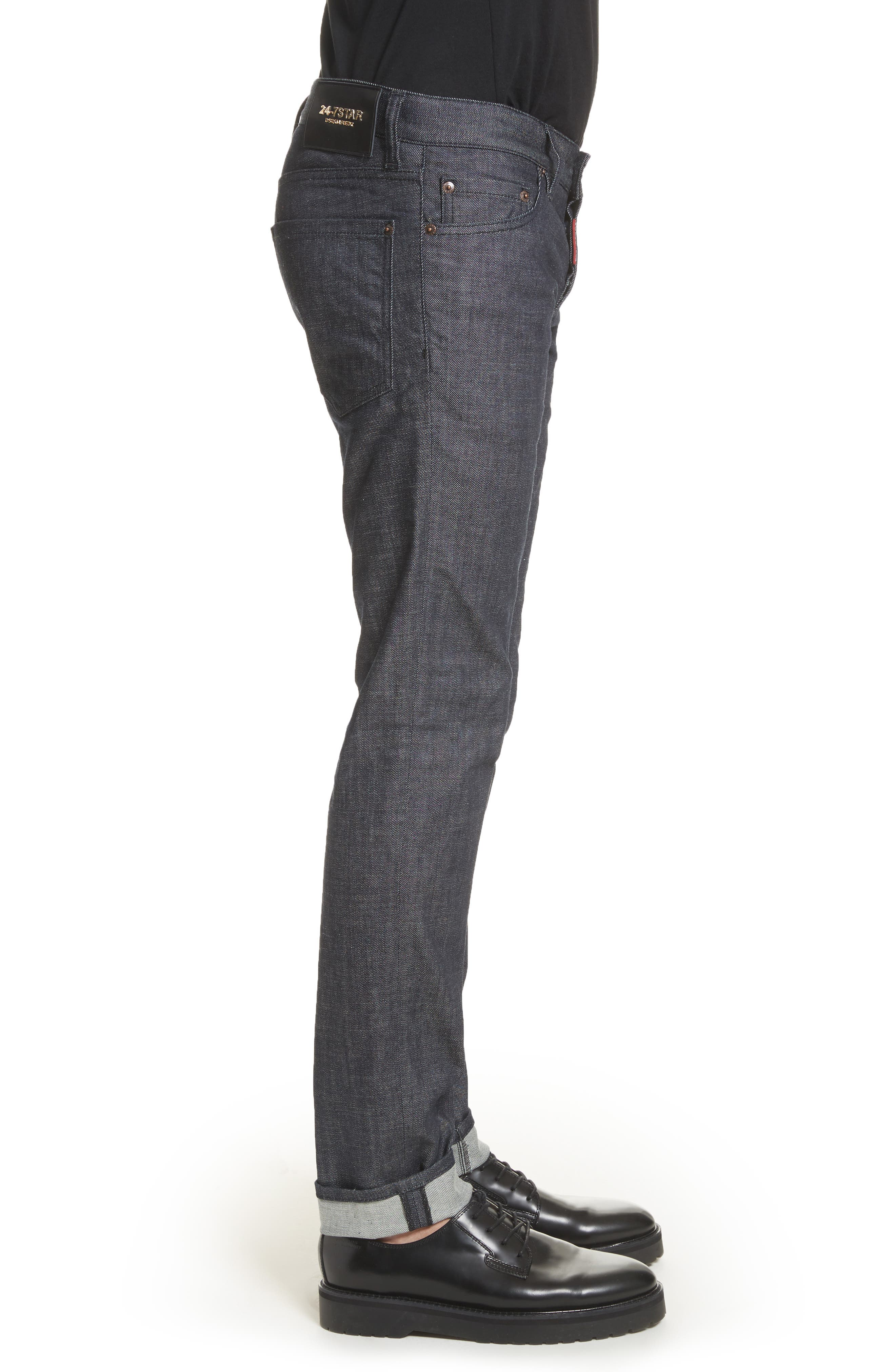 24-7Star Slim Fit Jeans,                             Alternate thumbnail 3, color,                             NAVY/BLUE