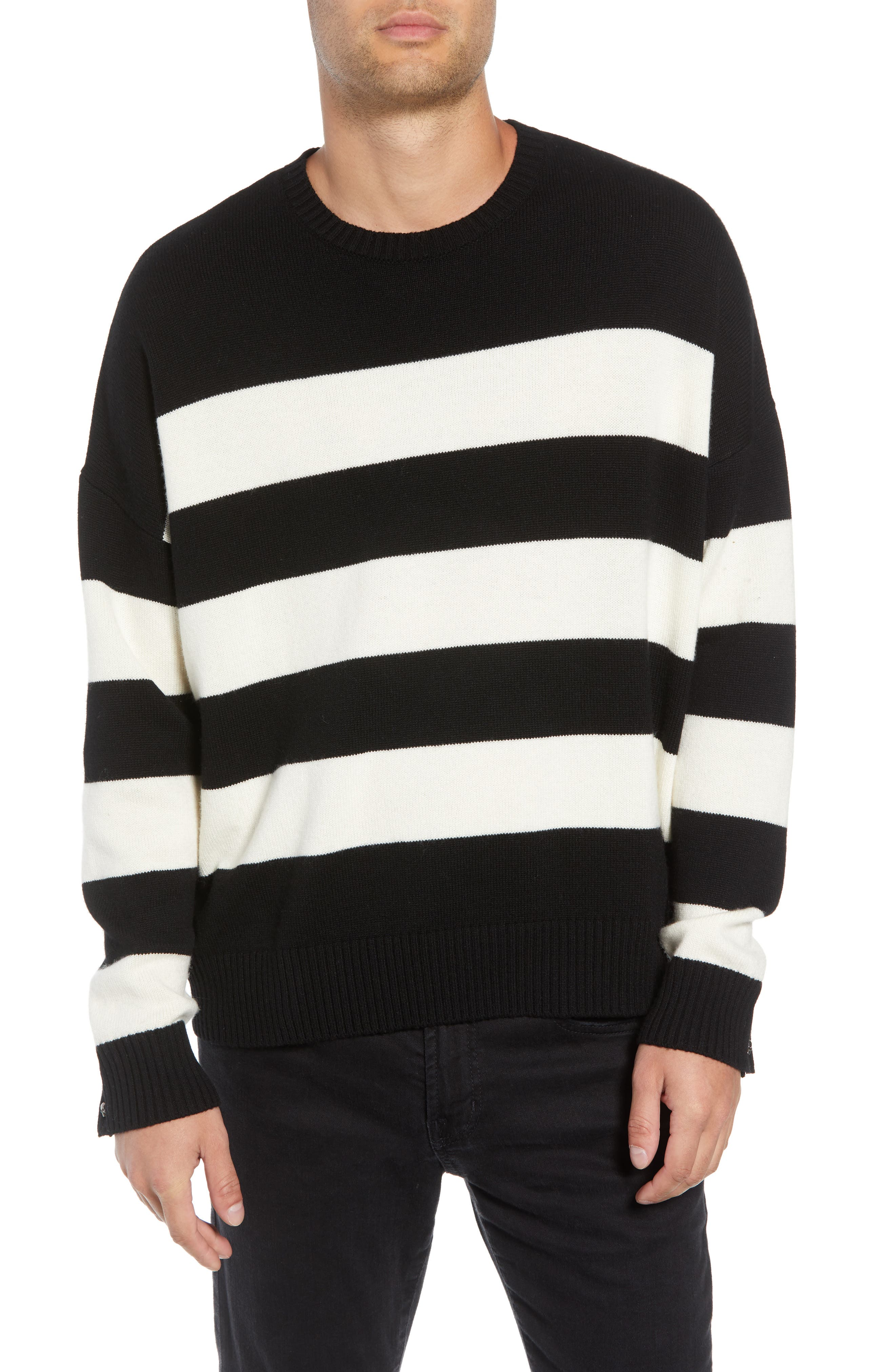 THE KOOPLES,                             Classic Fit Striped Sweater,                             Main thumbnail 1, color,                             001