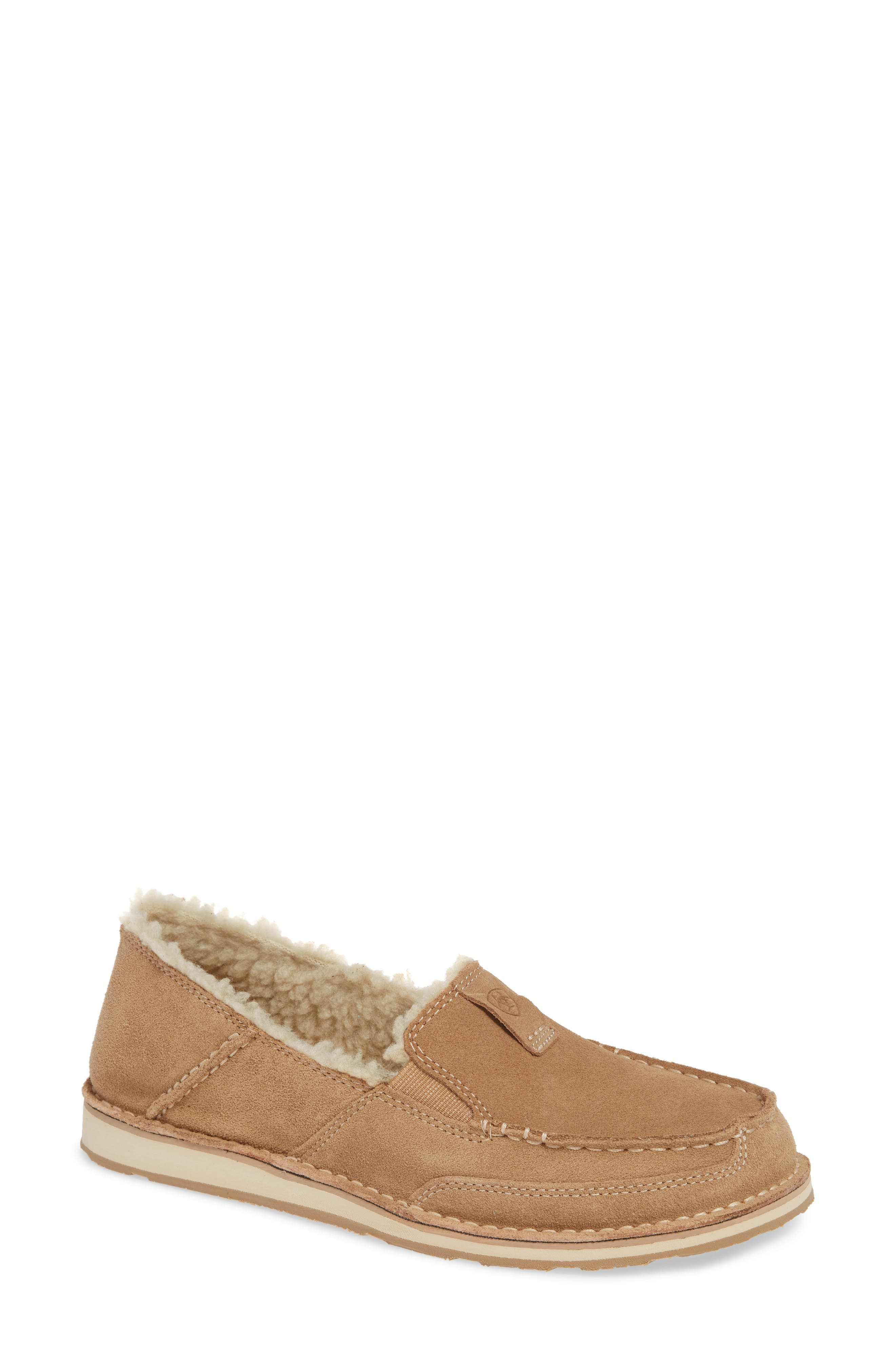 Cruiser Slip-On Loafer in Light Tan Suede Leather