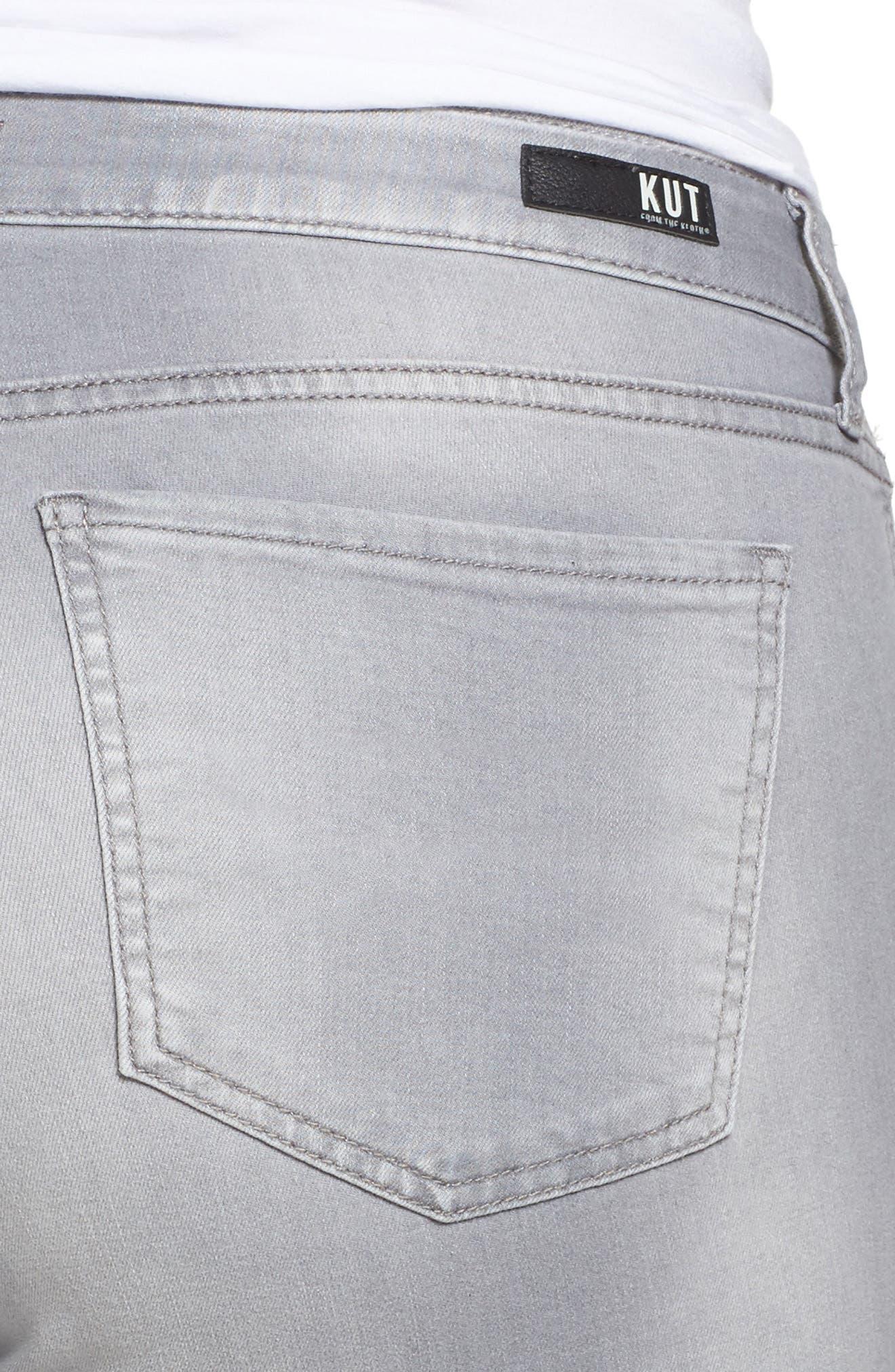 Mia Skinny Jeans,                             Alternate thumbnail 4, color,                             PREVAILED