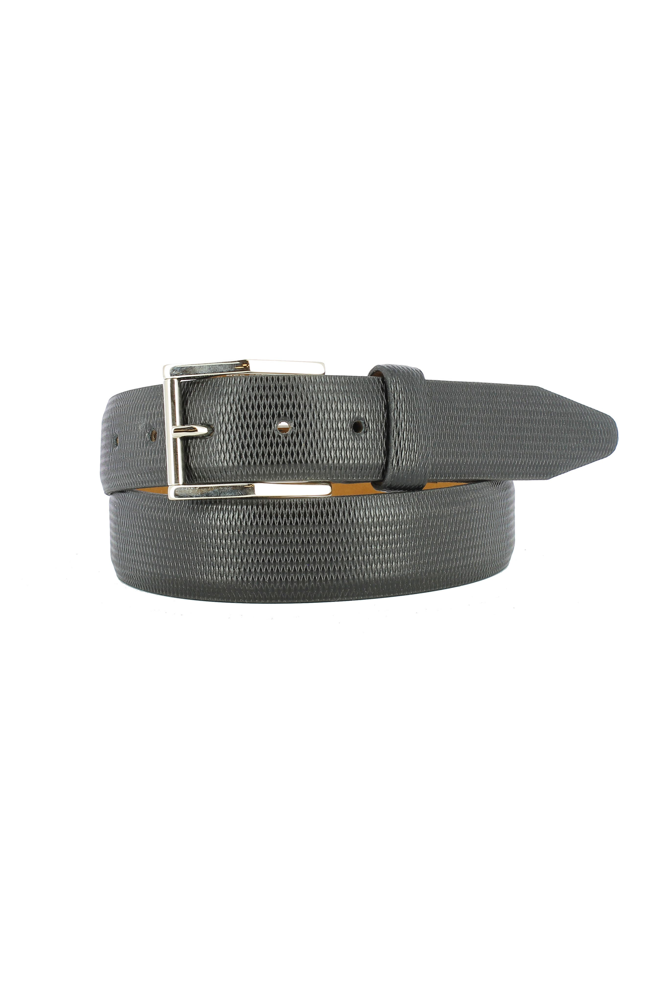 Gio Leather Belt,                         Main,                         color, BLACK