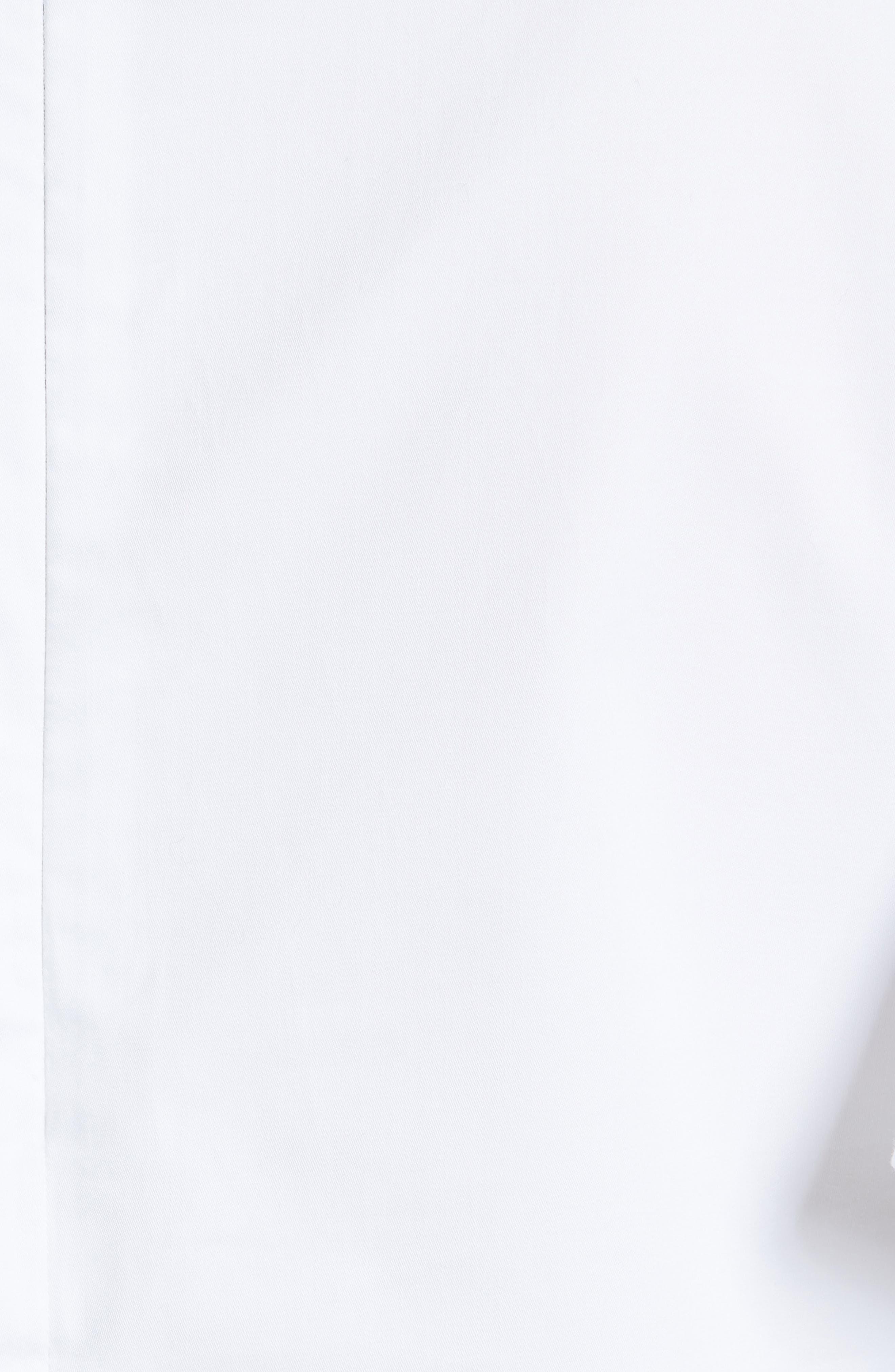 Ruffle Sleeve Cotton Poplin Top,                             Alternate thumbnail 5, color,                             100