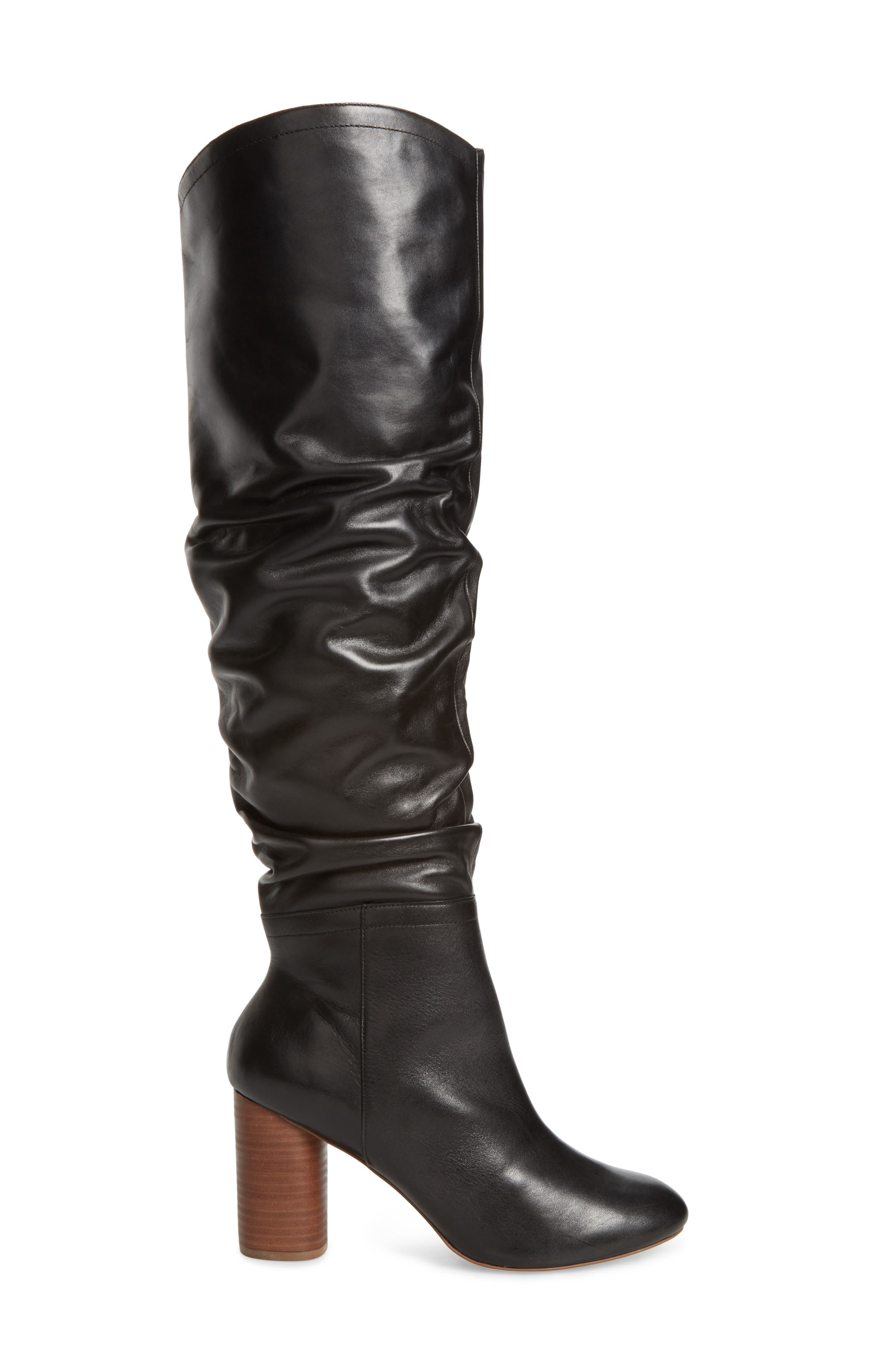 Bali Slouchy Over the Knee Boot,                             Alternate thumbnail 3, color,                             001