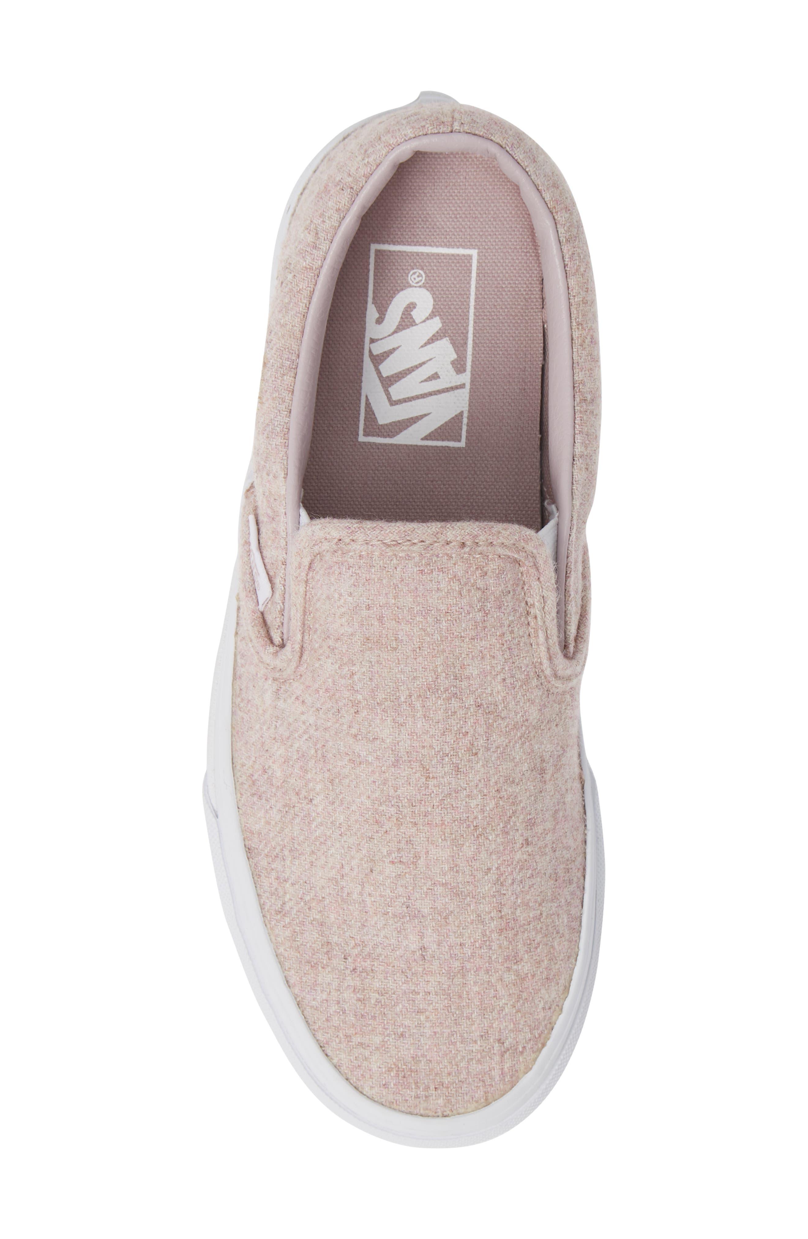 Classic Slip-On Sneaker,                             Alternate thumbnail 5, color,                             VIOLET ICE/ TRUE WHITE
