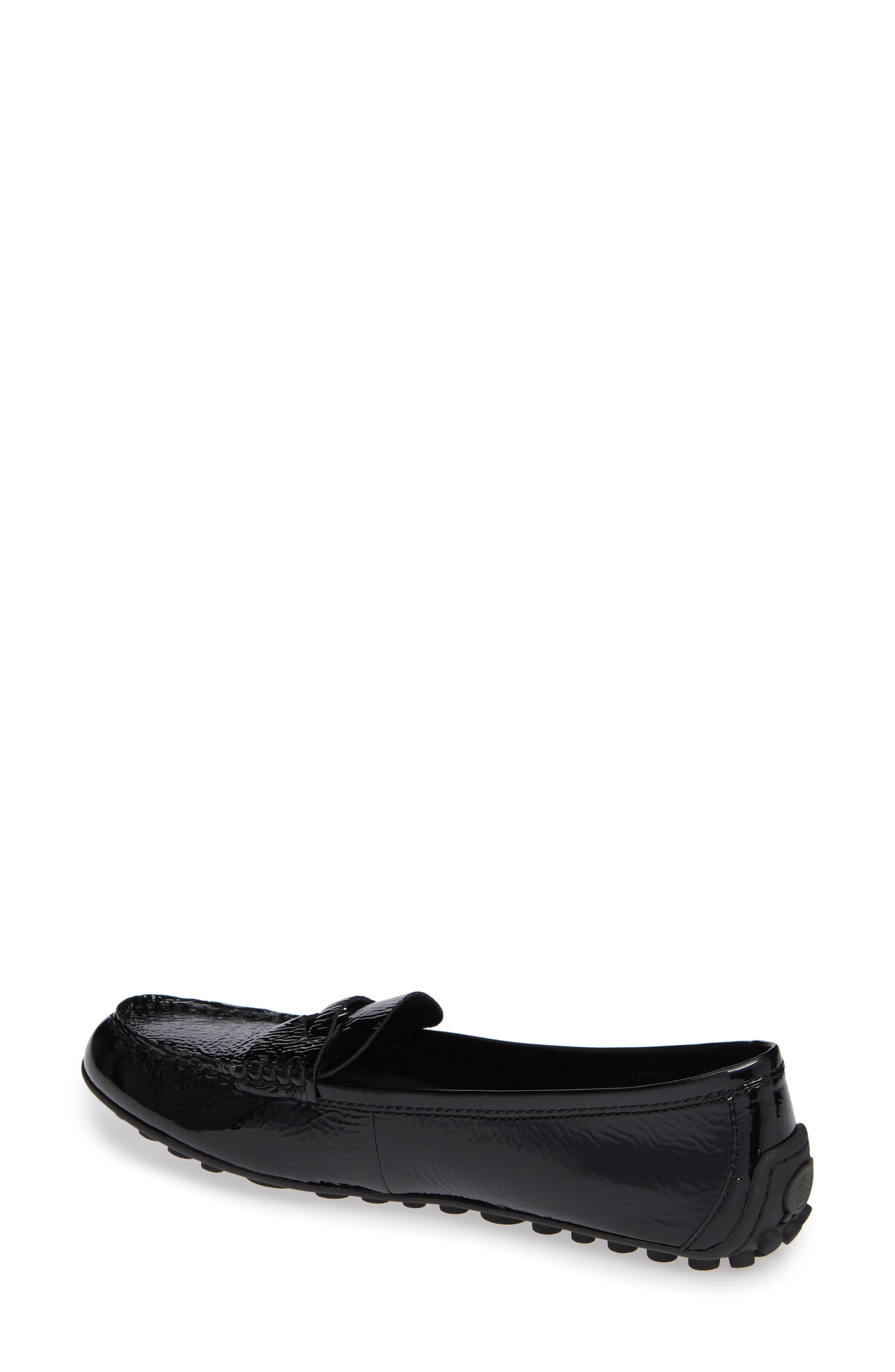 Malena Driving Loafer,                             Alternate thumbnail 2, color,                             BLACK PATENT LEATHER