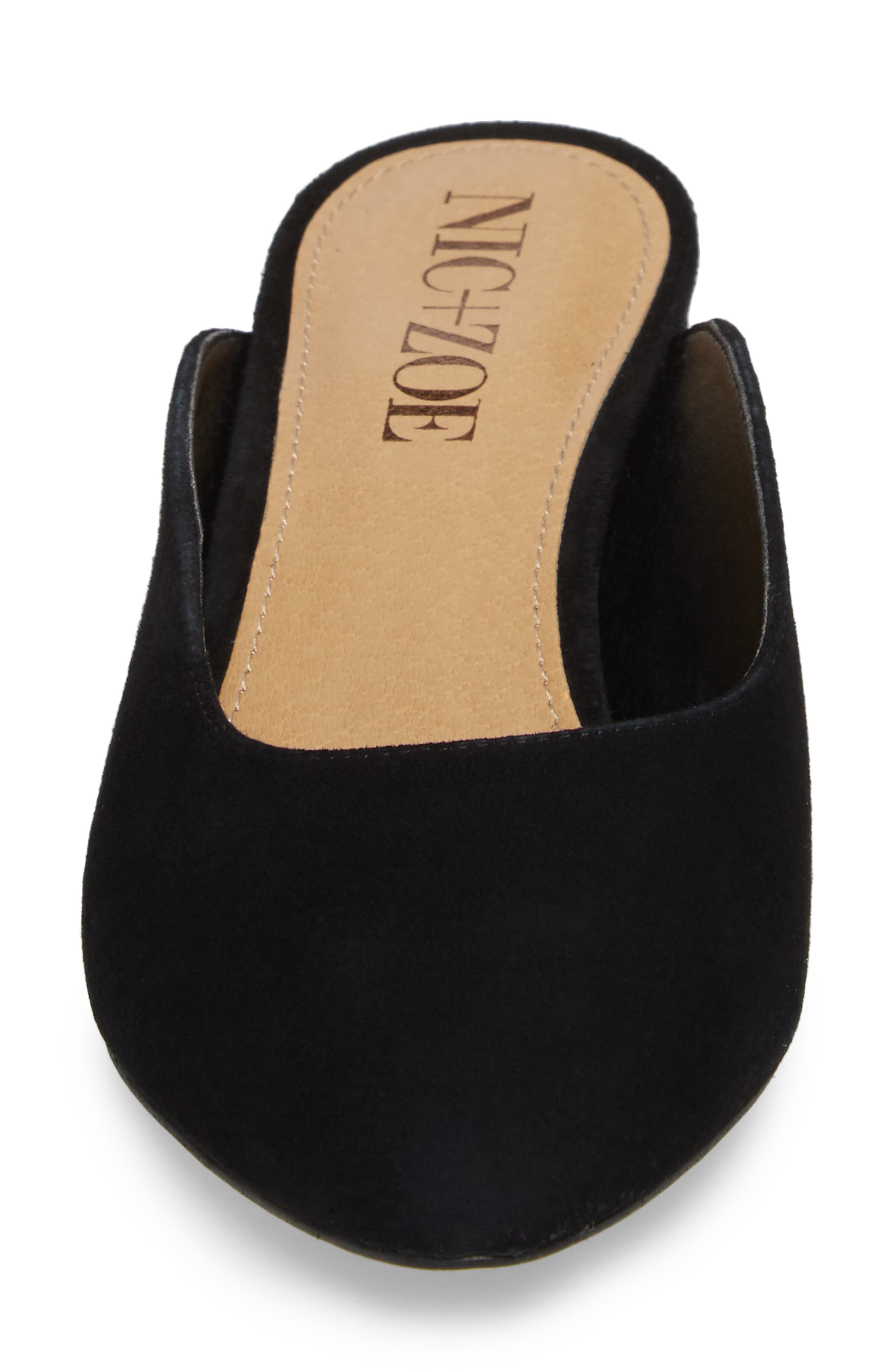 Jayla Mule,                             Alternate thumbnail 4, color,                             BLACK SUEDE