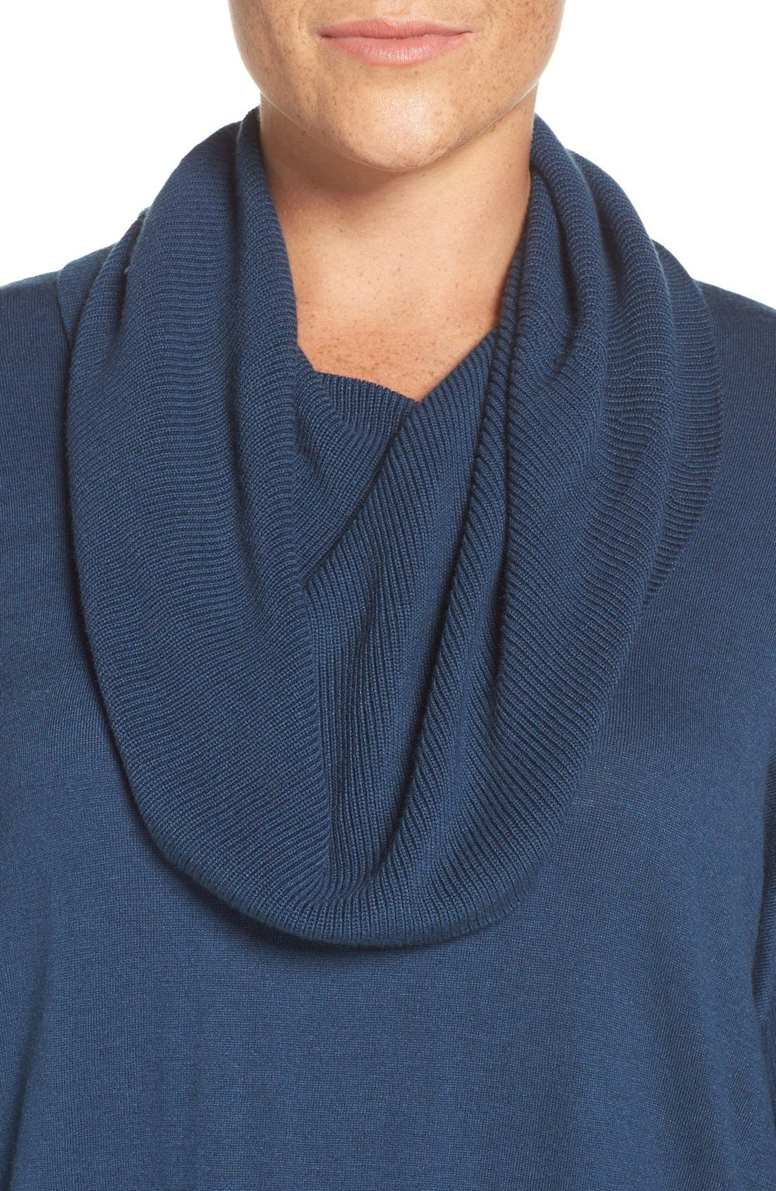 Cowl Neck Tunic Sweater,                             Alternate thumbnail 32, color,