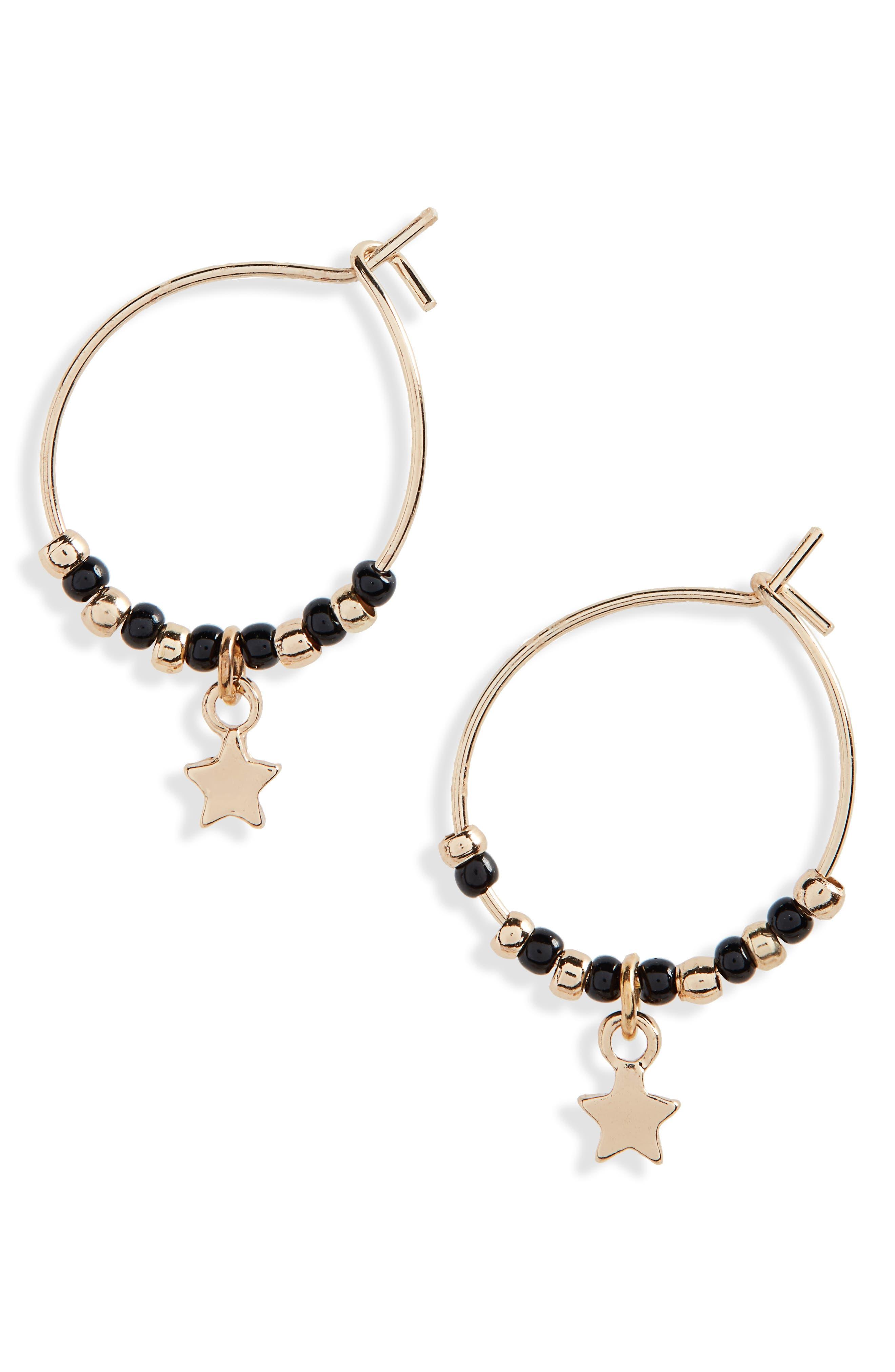 Mini Seed Bead Hoop Earrings,                         Main,                         color,