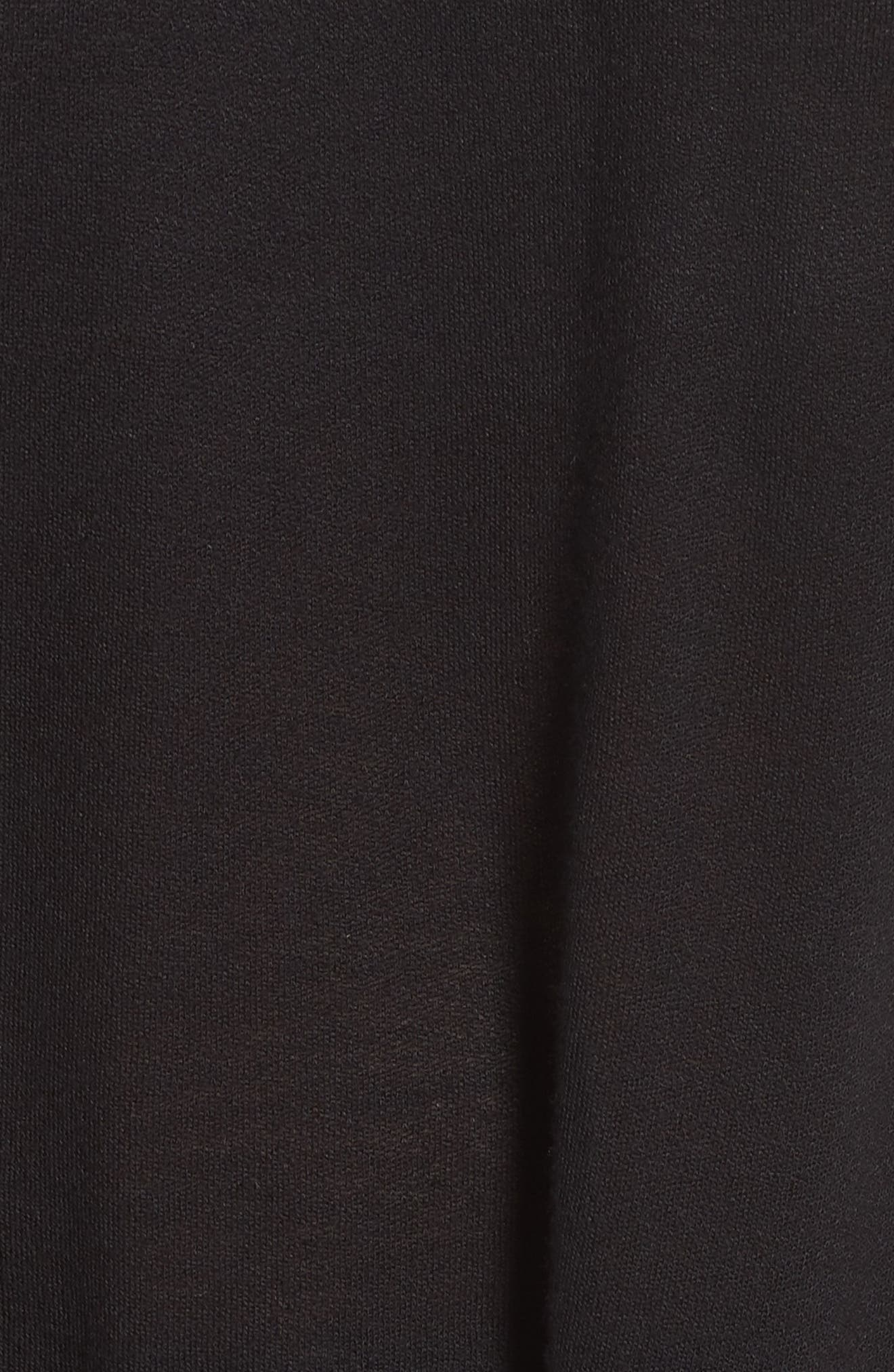 Embroidered Print Peasant Blouse,                             Alternate thumbnail 5, color,                             CREAM/ BLACK