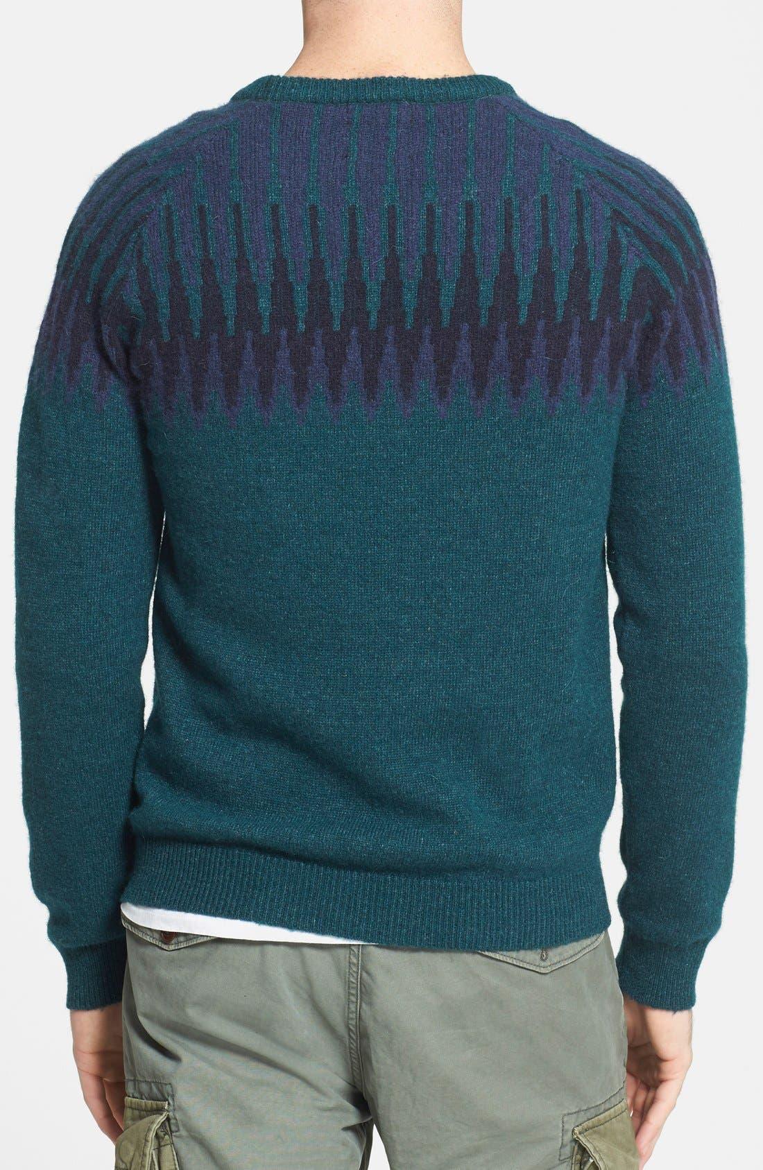 Fair Isle Crewneck Sweater,                             Alternate thumbnail 3, color,                             400