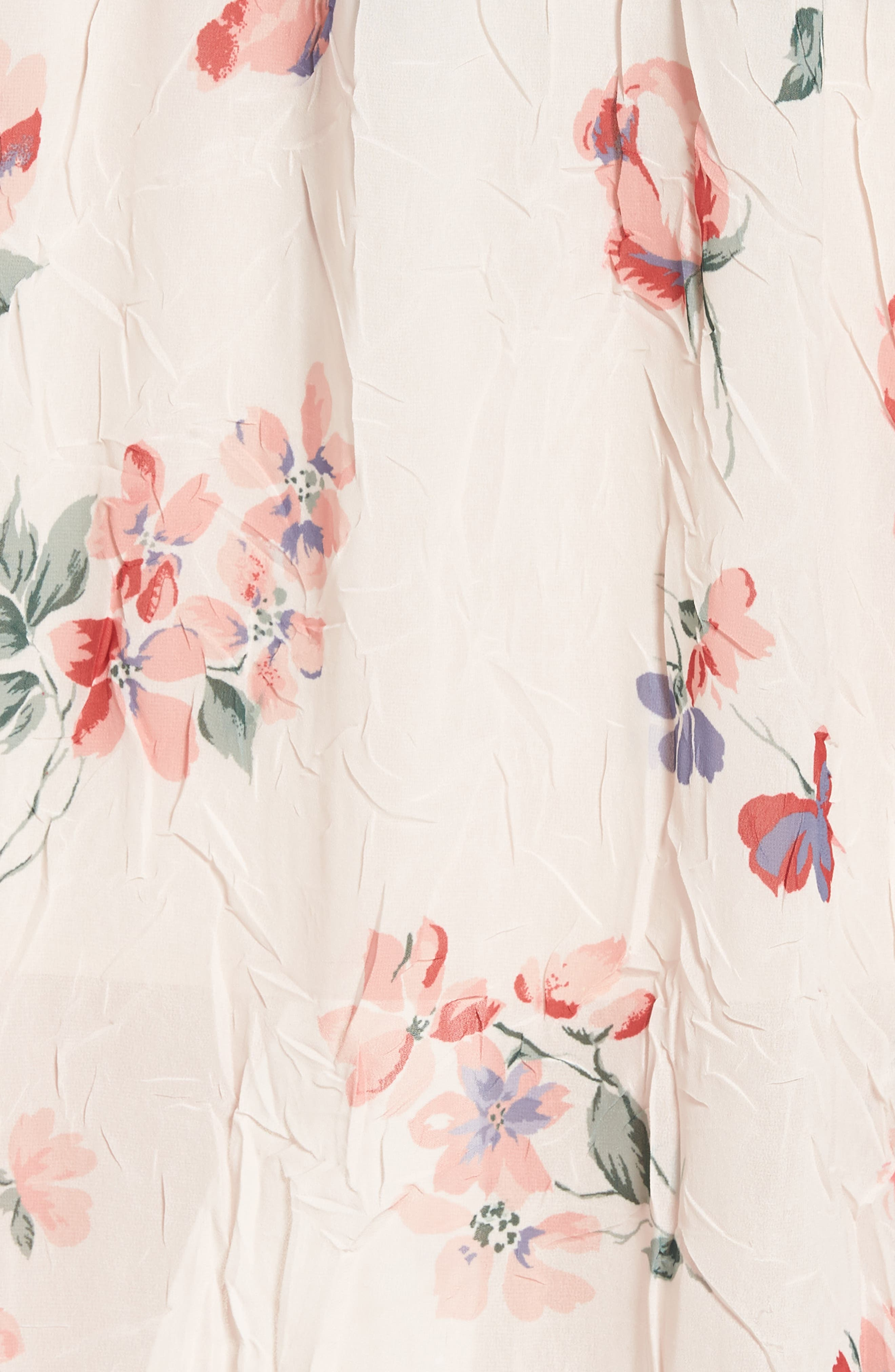 Off the Shoulder Floral Midi Dress,                             Alternate thumbnail 5, color,                             950