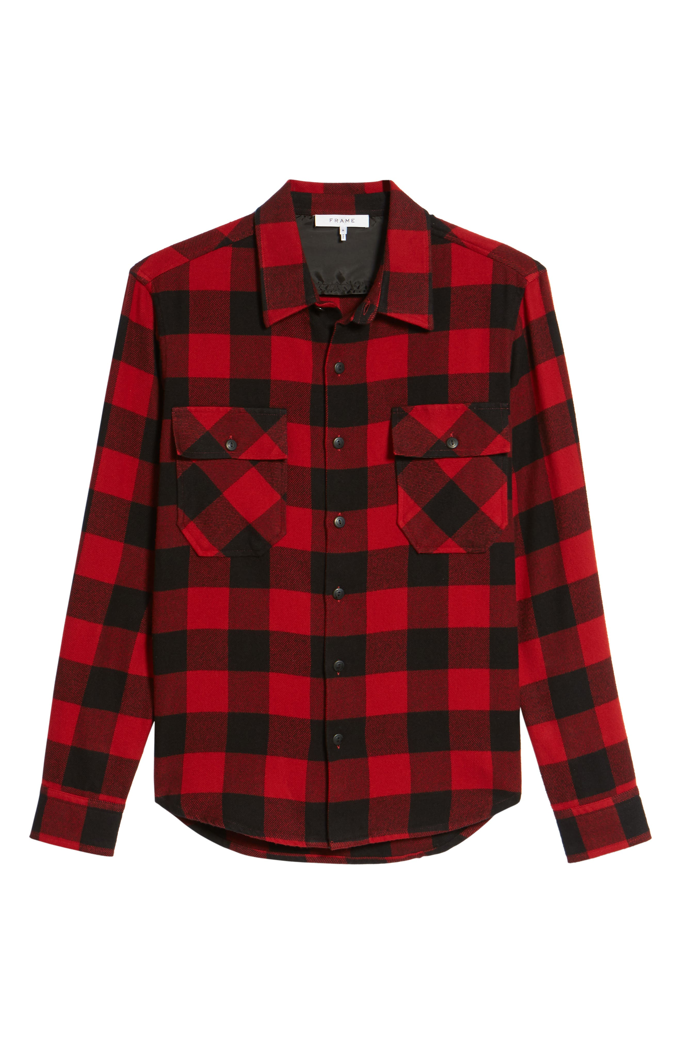 Buffalo Check Shirt Jacket,                             Alternate thumbnail 6, color,                             640