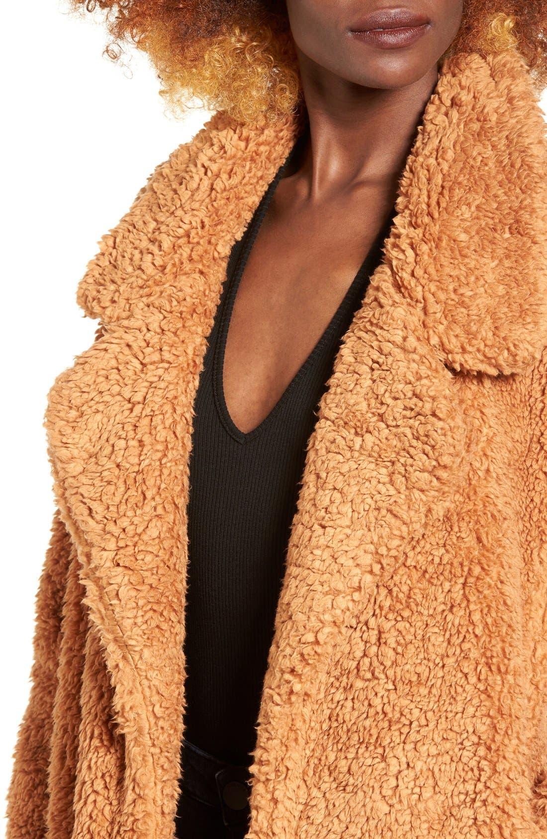 Violet Teddy Bear Coat,                             Main thumbnail 4, color,