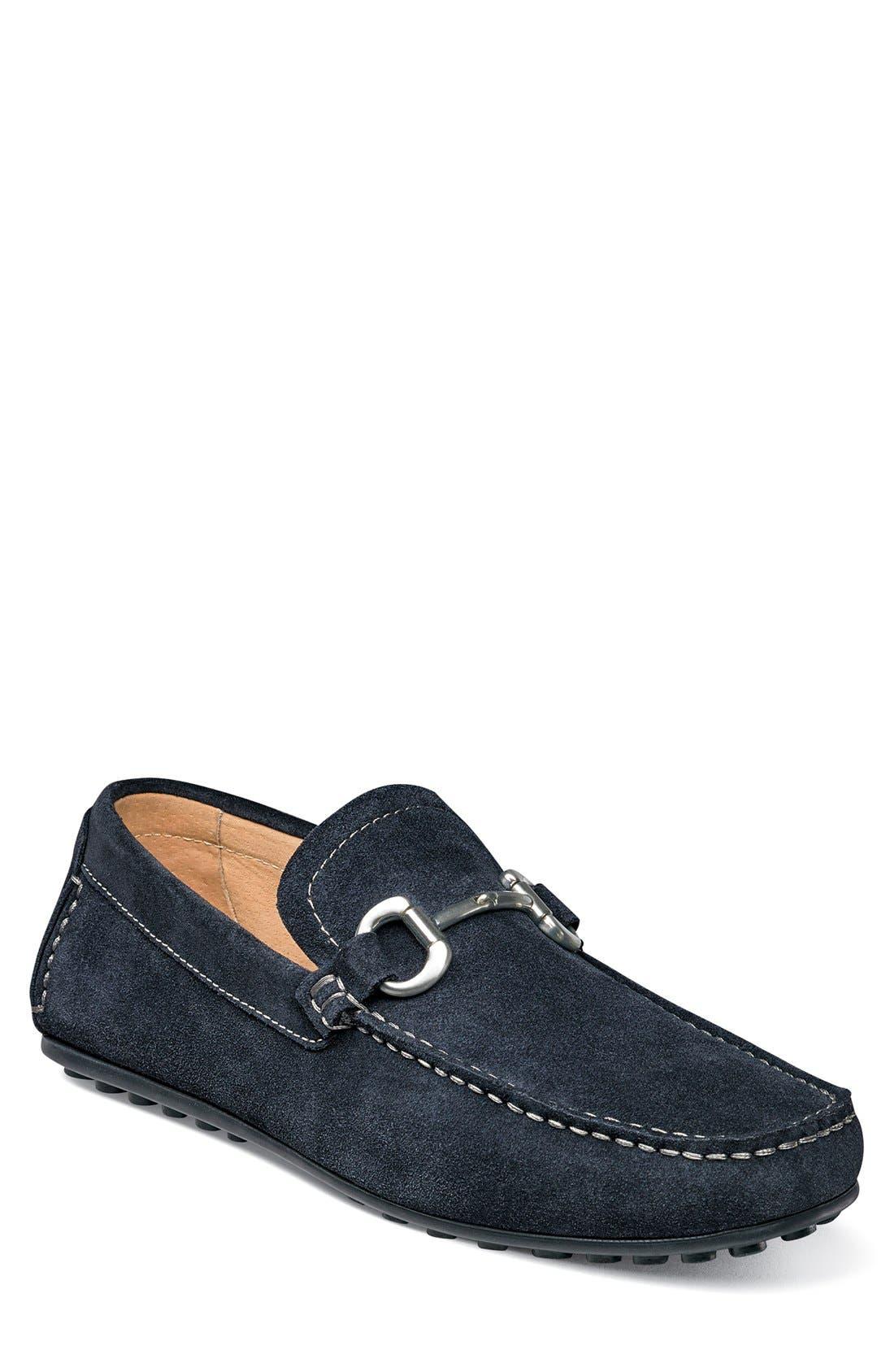 'Danforth' Driving Shoe,                         Main,                         color, NAVY SUEDE
