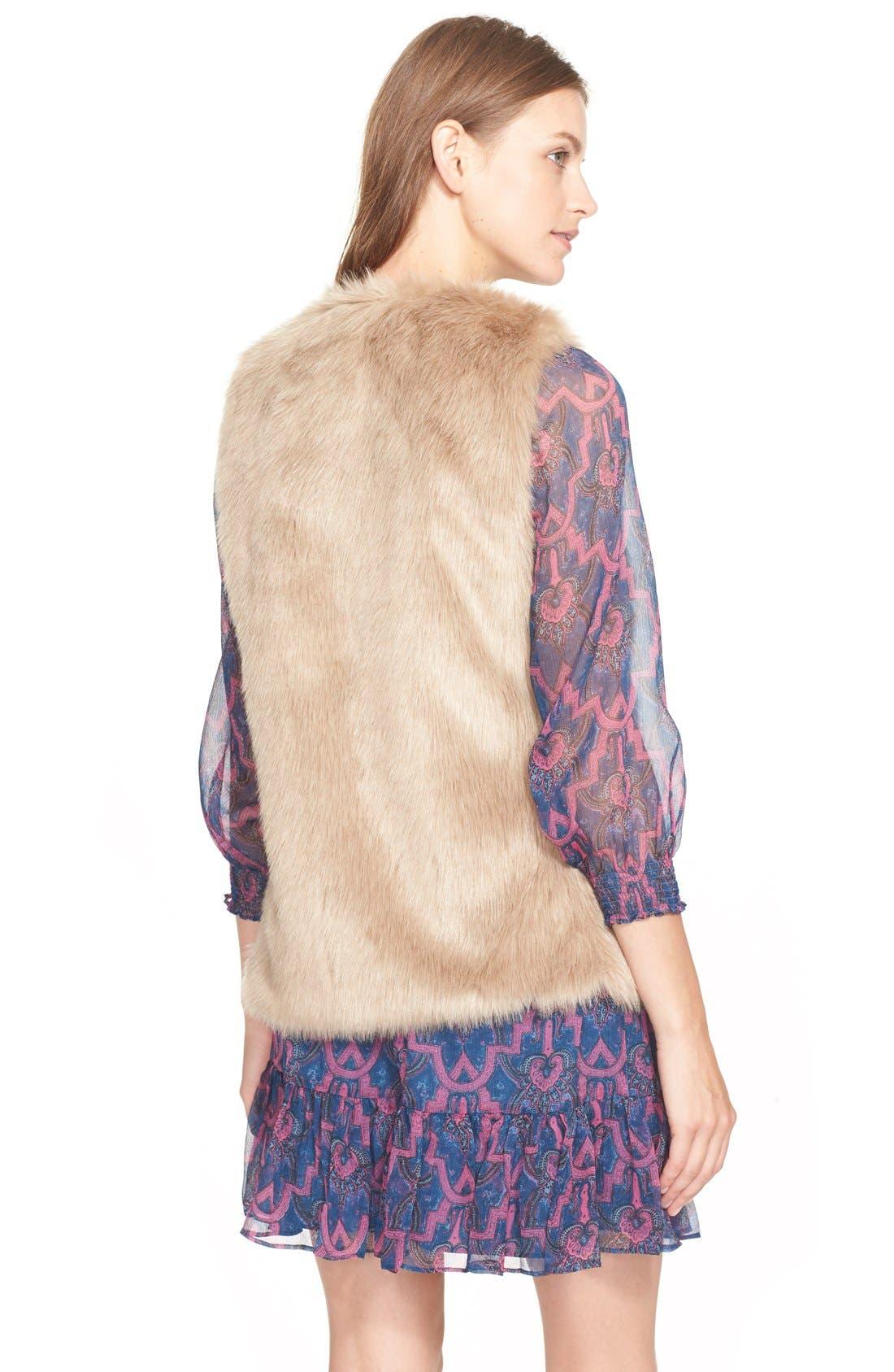'Nimoy' Faux Fur Vest,                             Alternate thumbnail 2, color,                             340