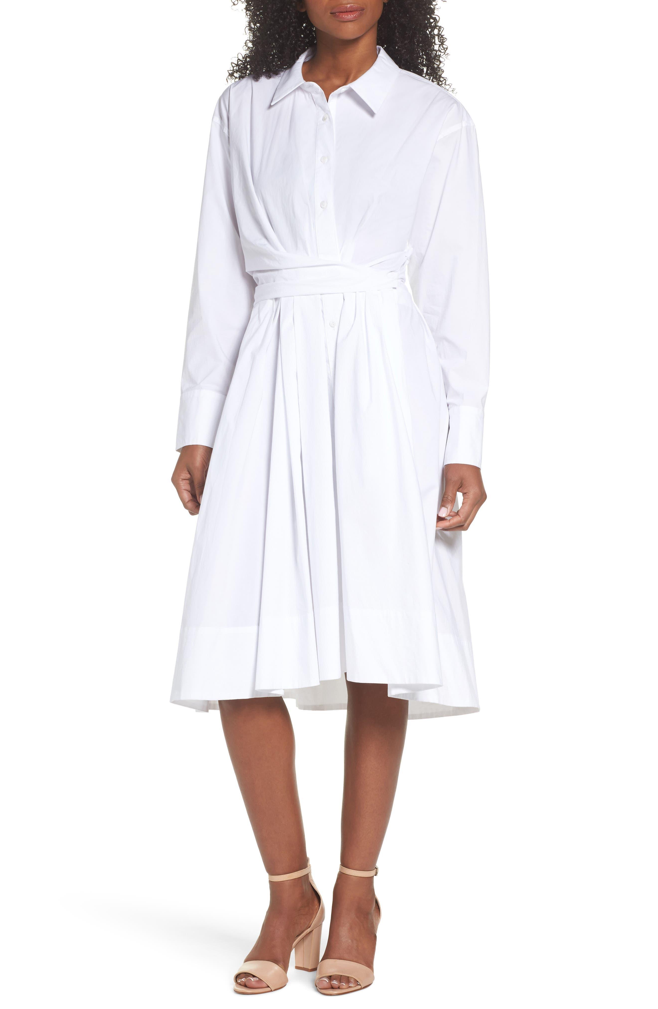 Tiffany Cotton Shirtdress,                             Main thumbnail 1, color,