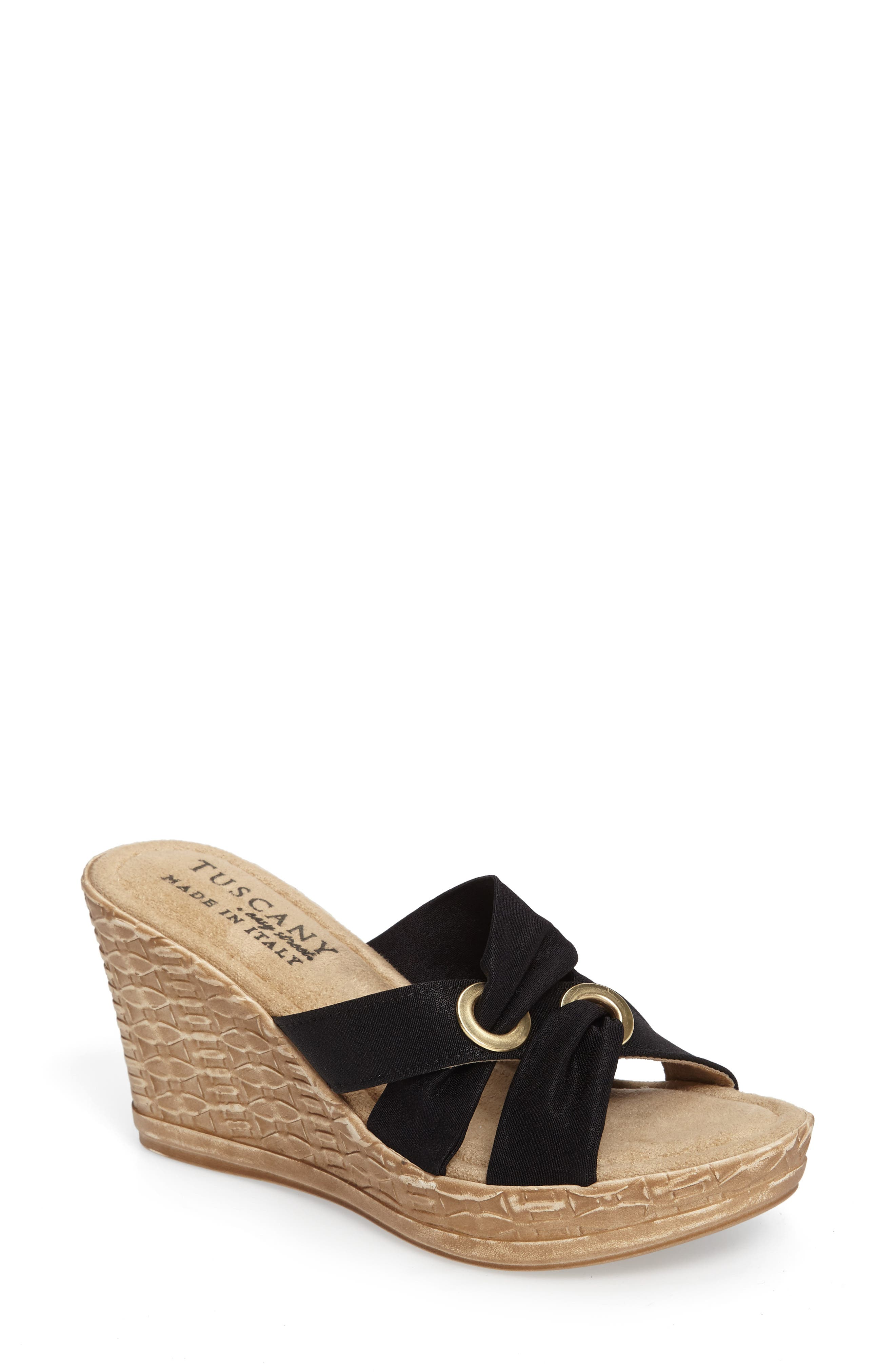 by Easy Street<sup>®</sup> Solaro Platform Wedge Sandal,                         Main,                         color, 001