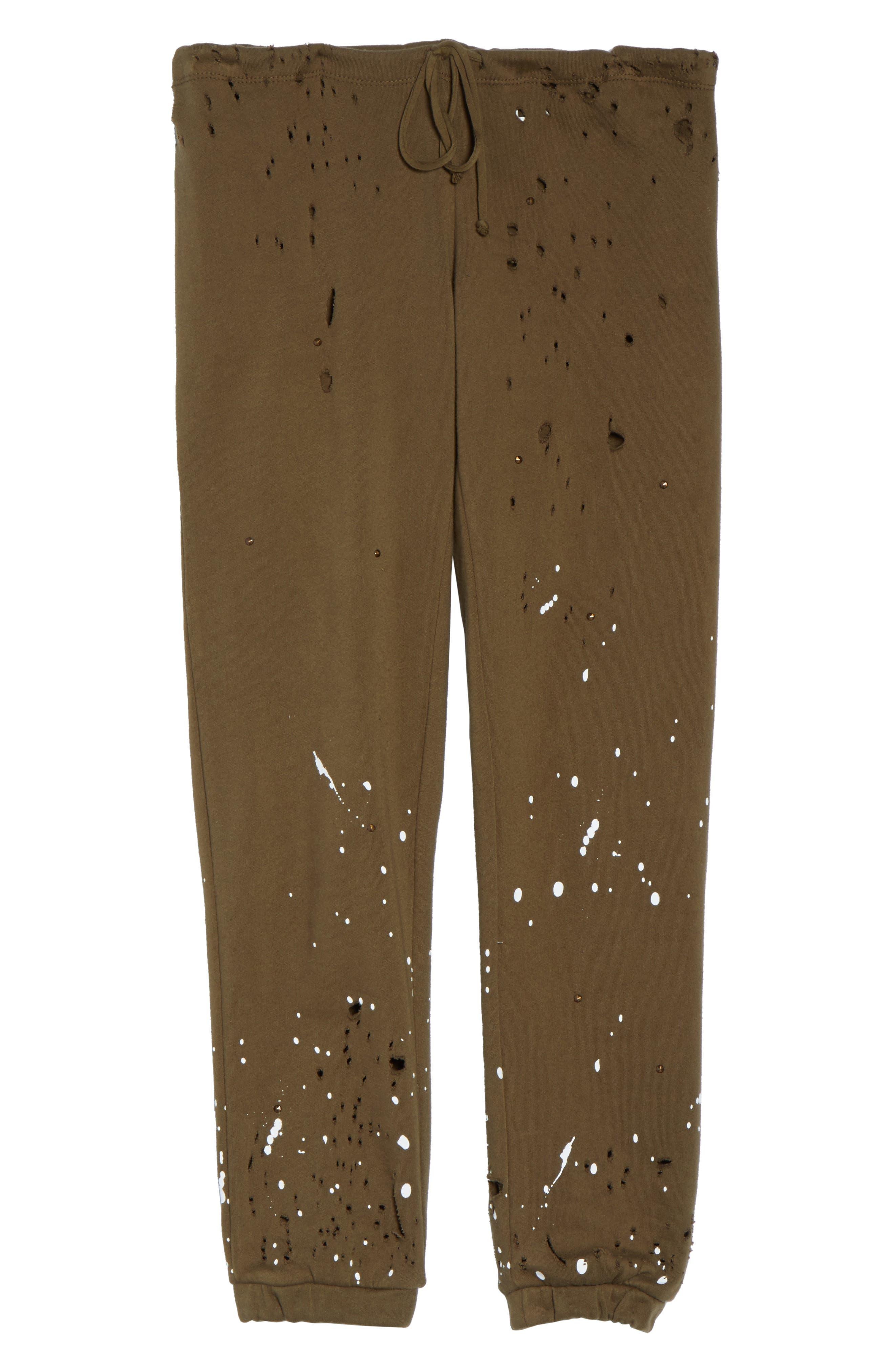 Distressed Fleece Jogger Lounge Pants,                             Alternate thumbnail 12, color,