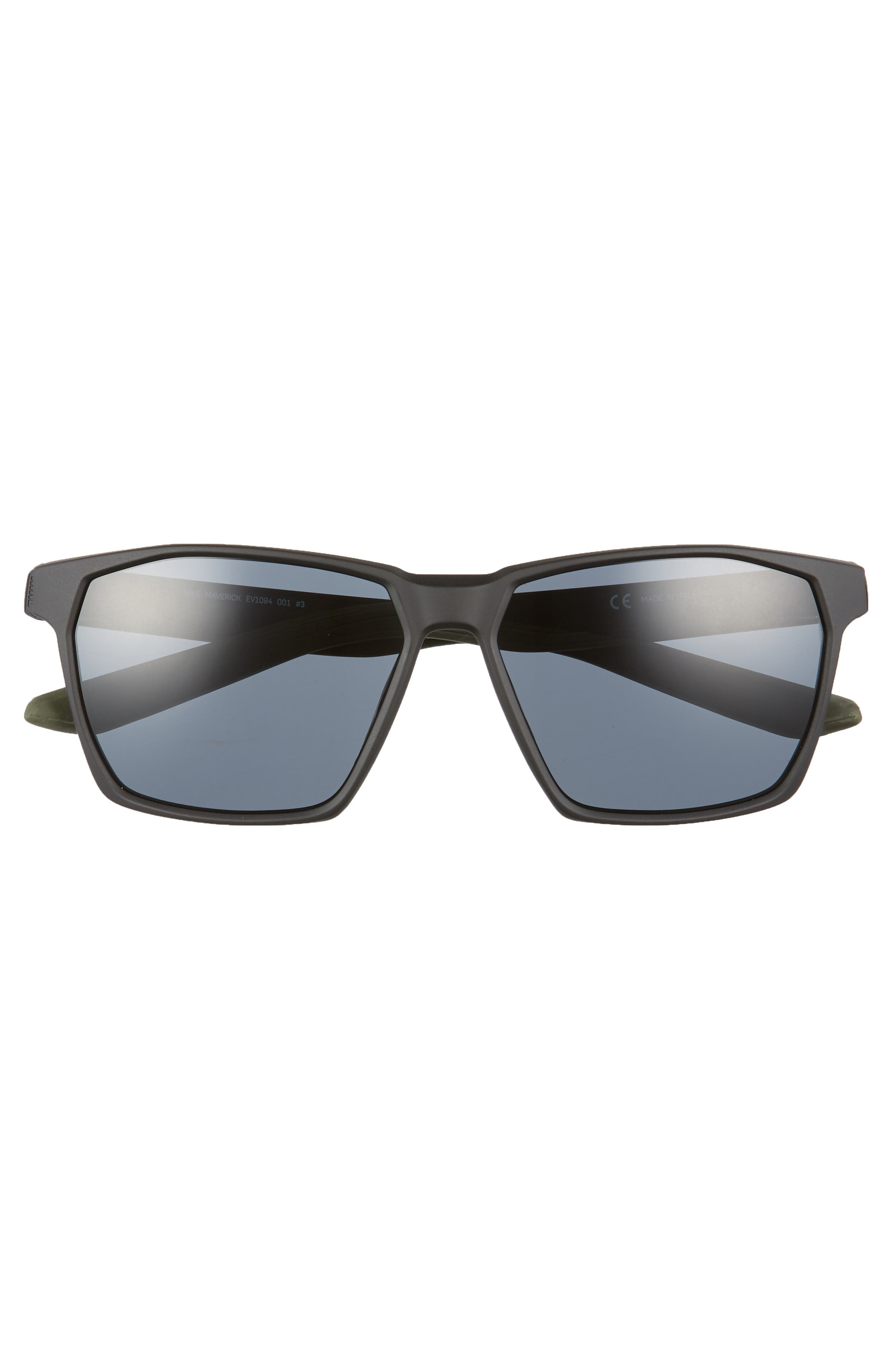 Maverick 59mm Sunglasses,                             Alternate thumbnail 2, color,                             MATTE BLACK/ GREY