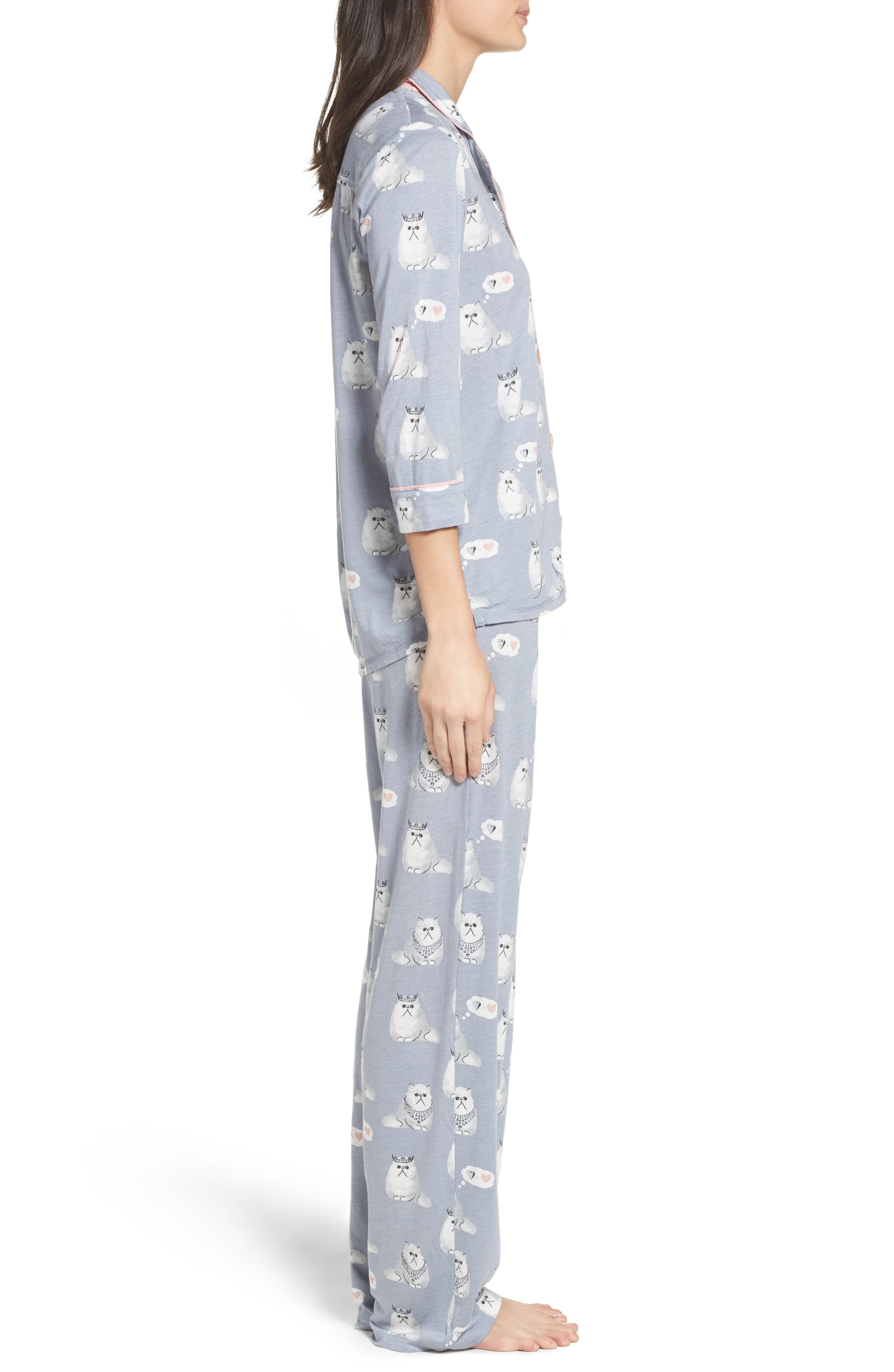 Playful Print Pajamas & Eye Mask,                             Alternate thumbnail 3, color,                             065