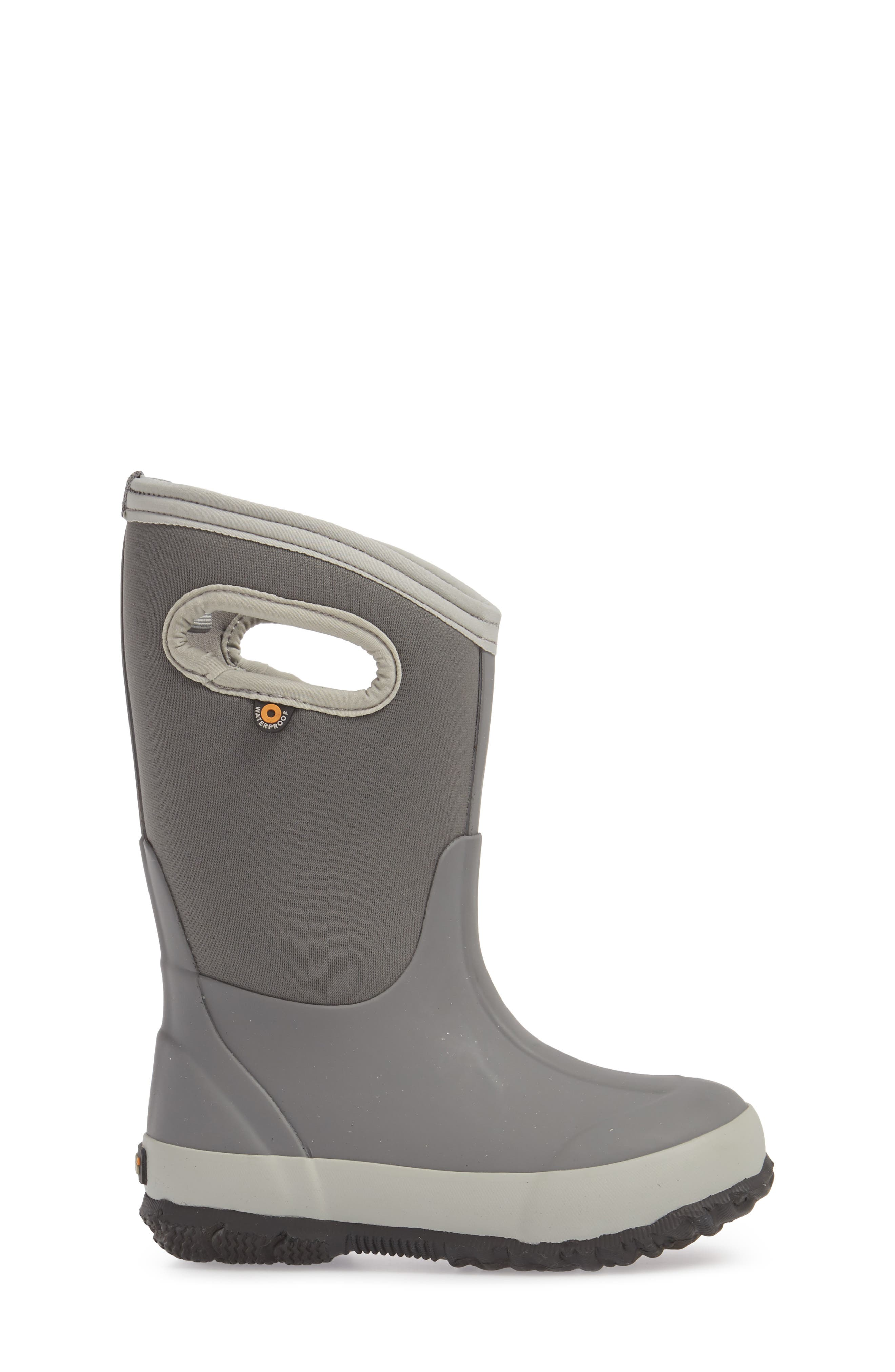 Classic Solid Insulated Boot,                             Alternate thumbnail 3, color,                             LIGHT GRAY