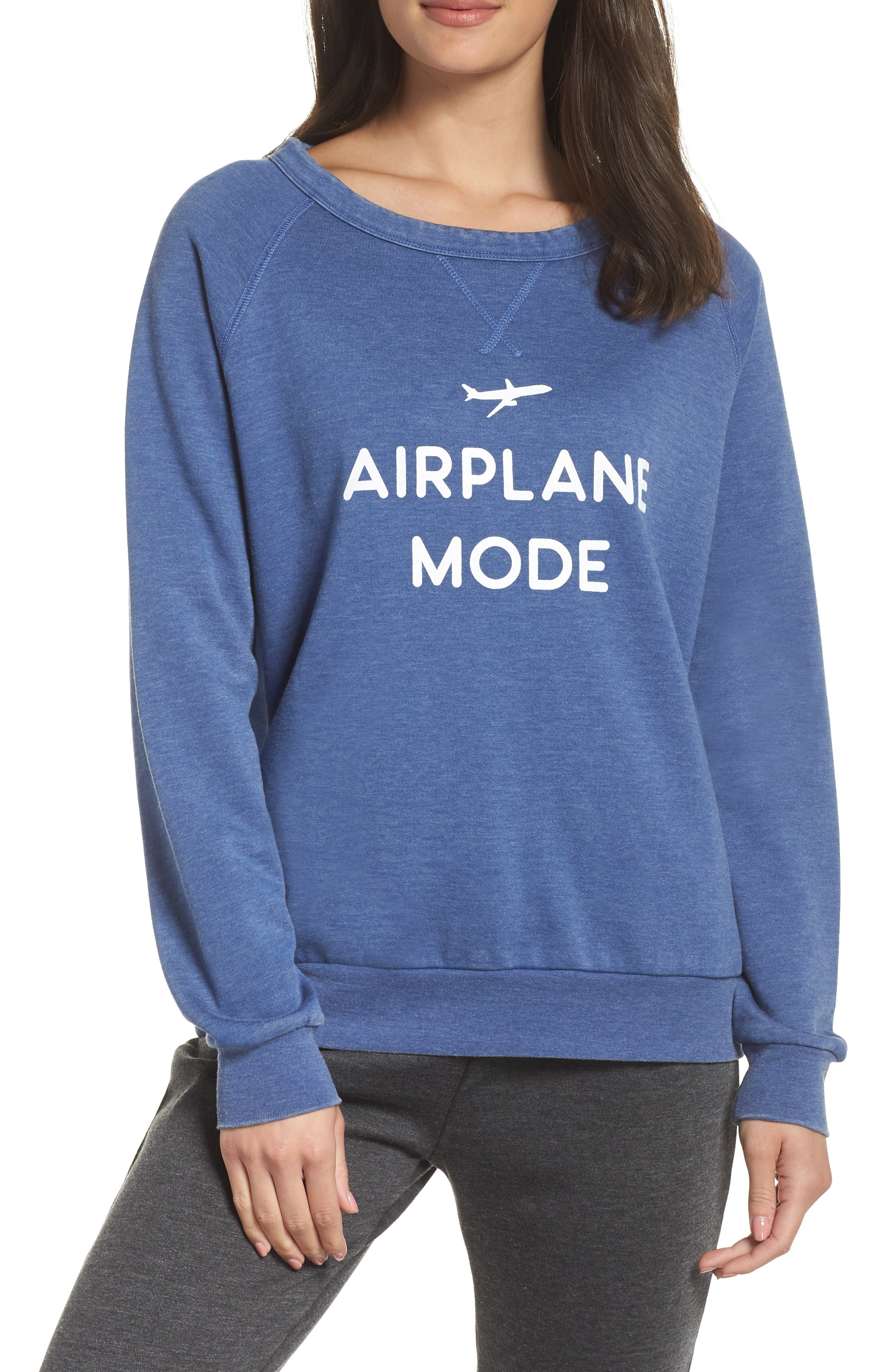 THE LAUNDRY ROOM Airplane Mode Sweatshirt in Blue