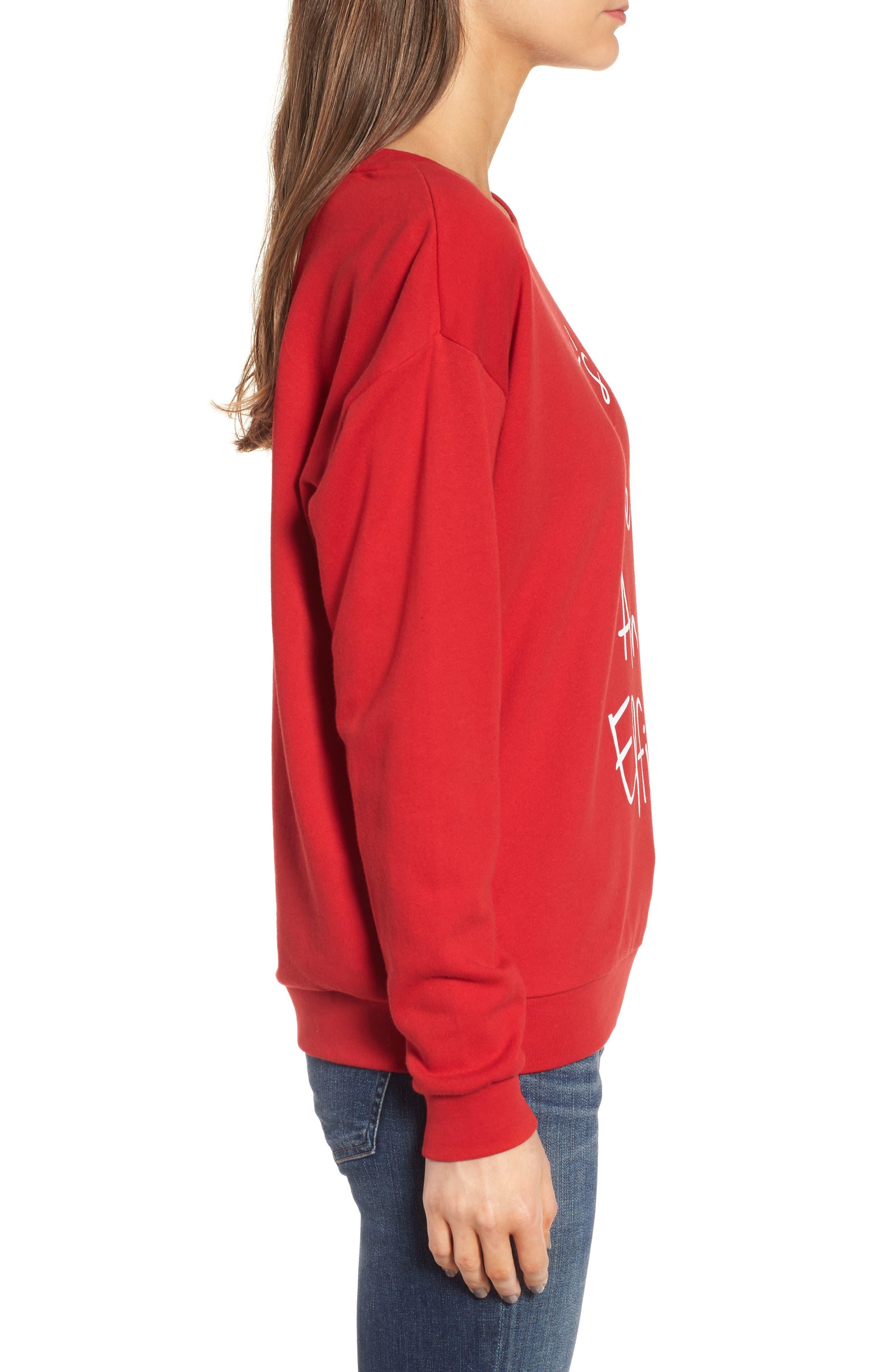 Let's Take an Elfie Sweatshirt,                             Alternate thumbnail 3, color,                             600