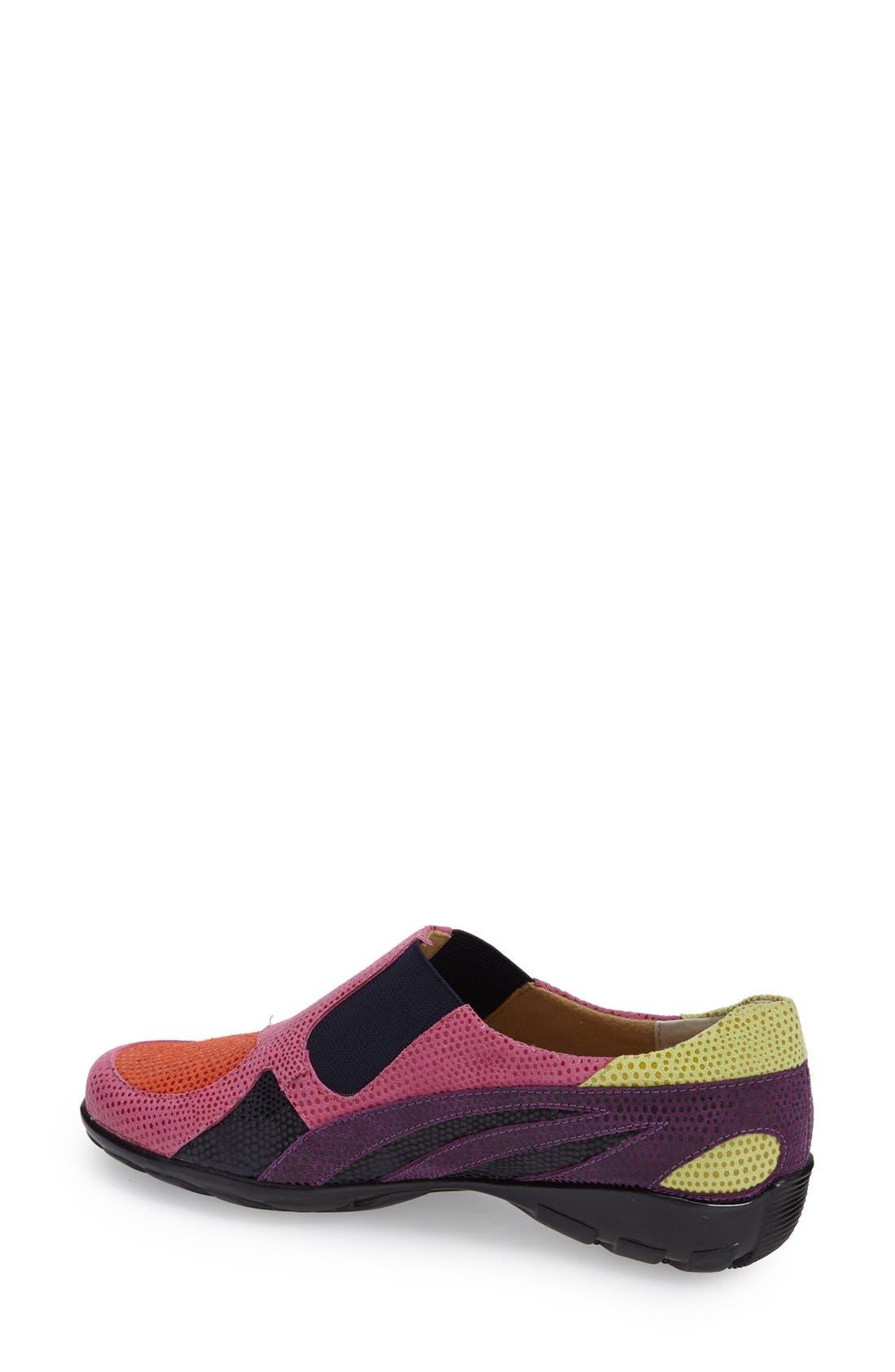 'Attie' Colorblock Slip-On Flat,                             Alternate thumbnail 15, color,