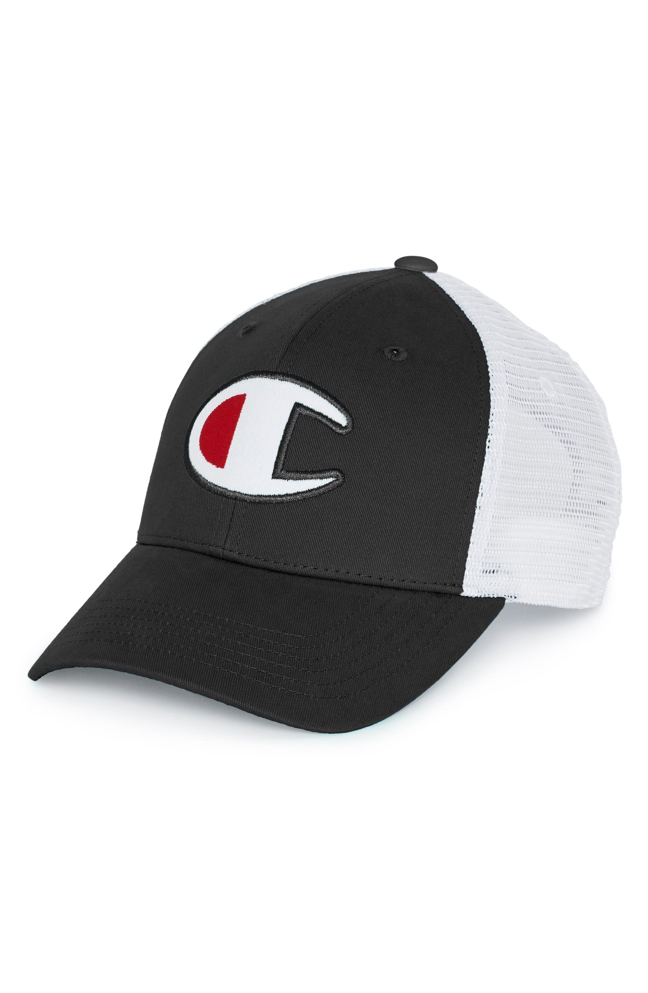 Mesh Back Dad Cap,                         Main,                         color, BLACK/ WHITE