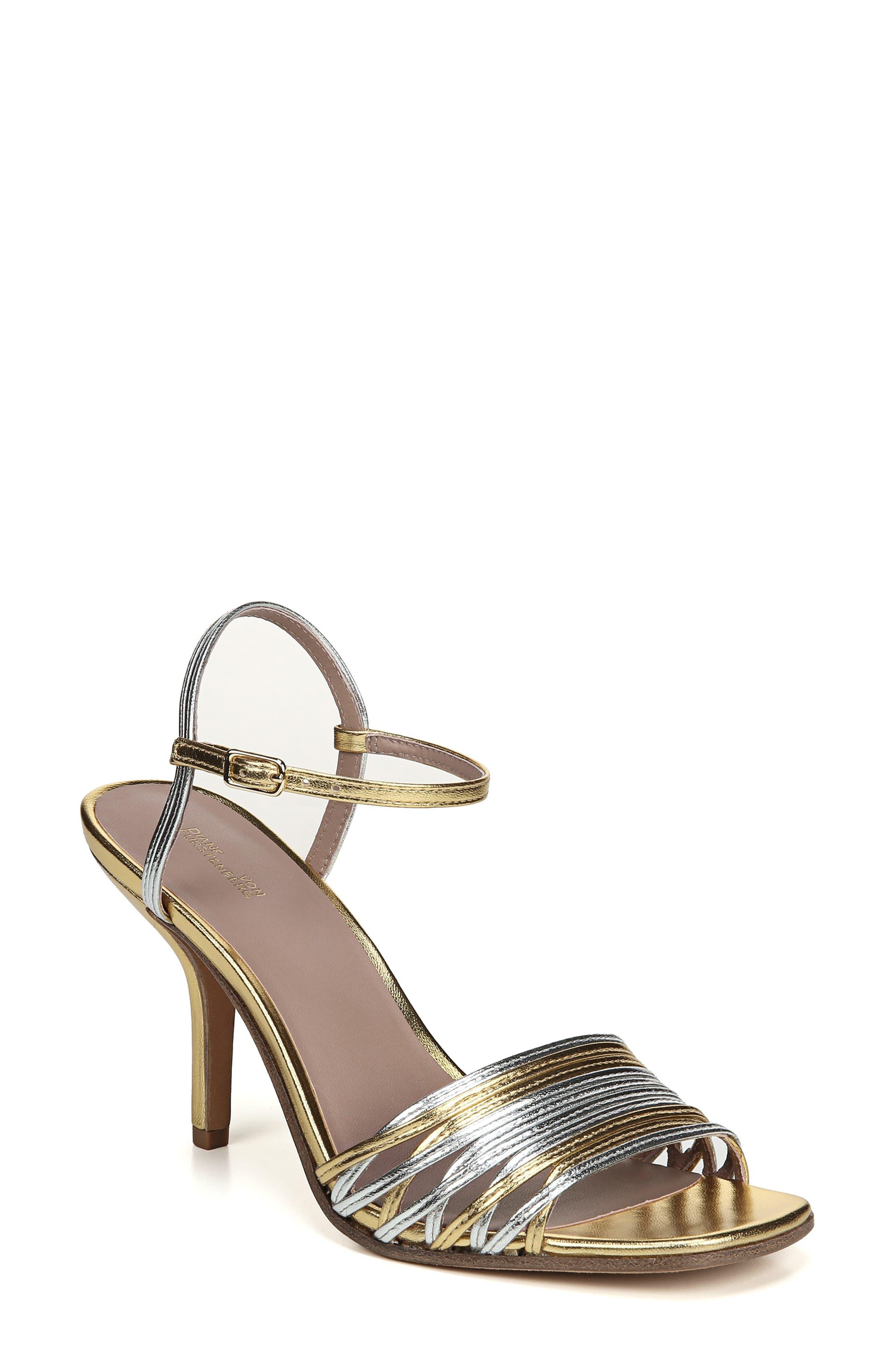 Diane Von Furstenberg Federica Sandal- Metallic