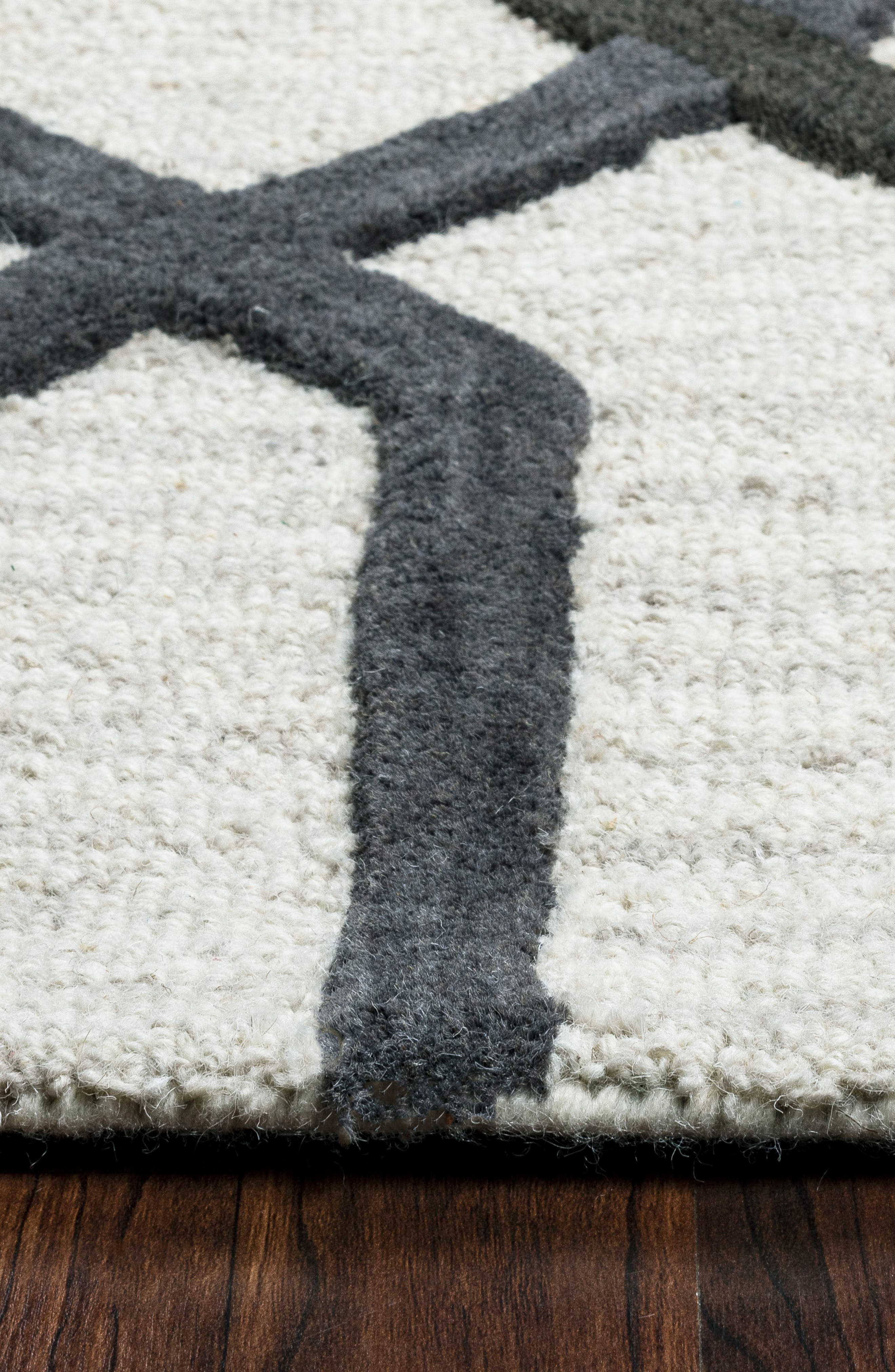 'Caterine Lines' Hand Tufted Wool Area Rug,                             Alternate thumbnail 3, color,                             020