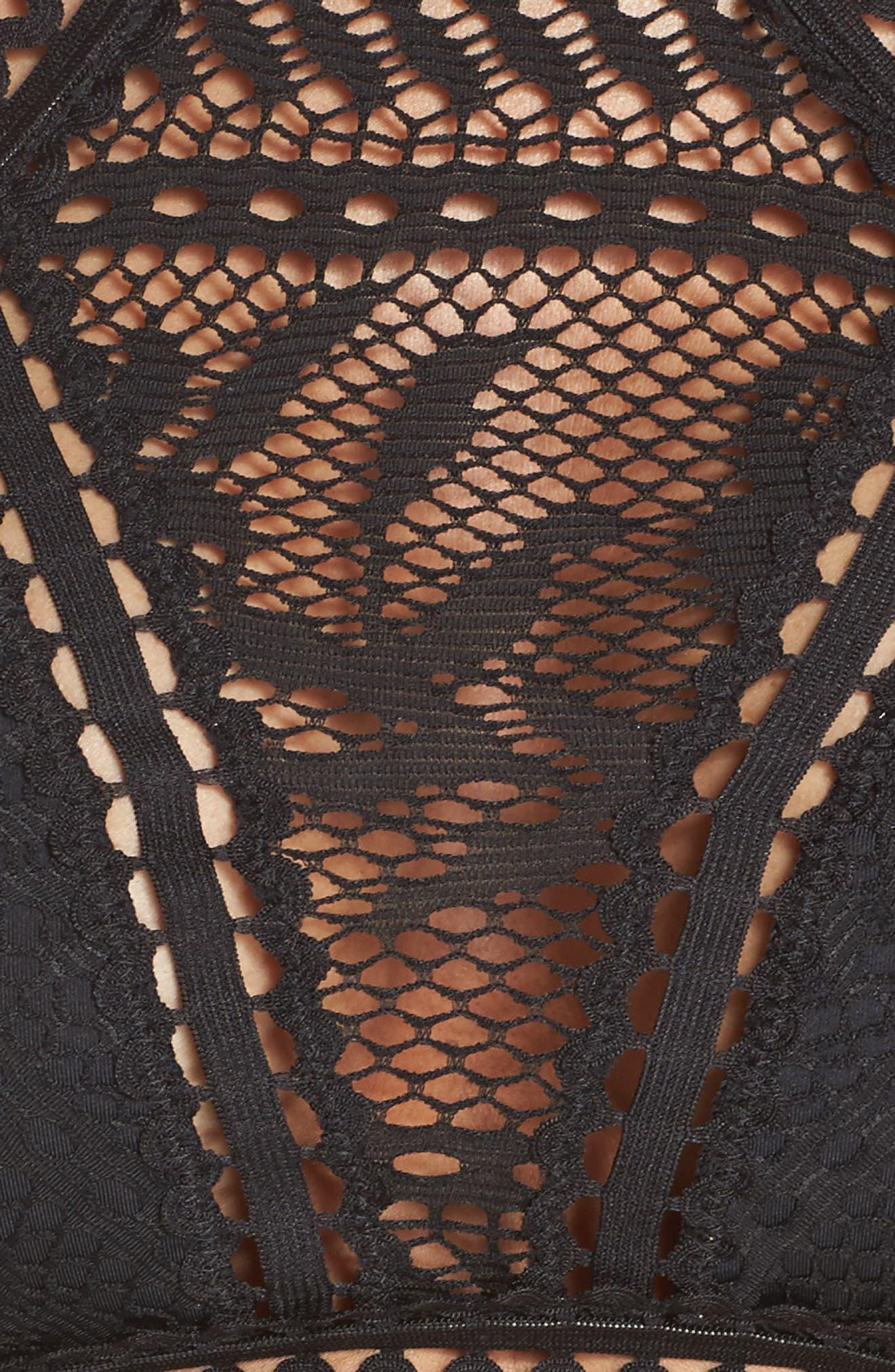 Prairie Rose Bikini Top,                             Alternate thumbnail 5, color,                             001