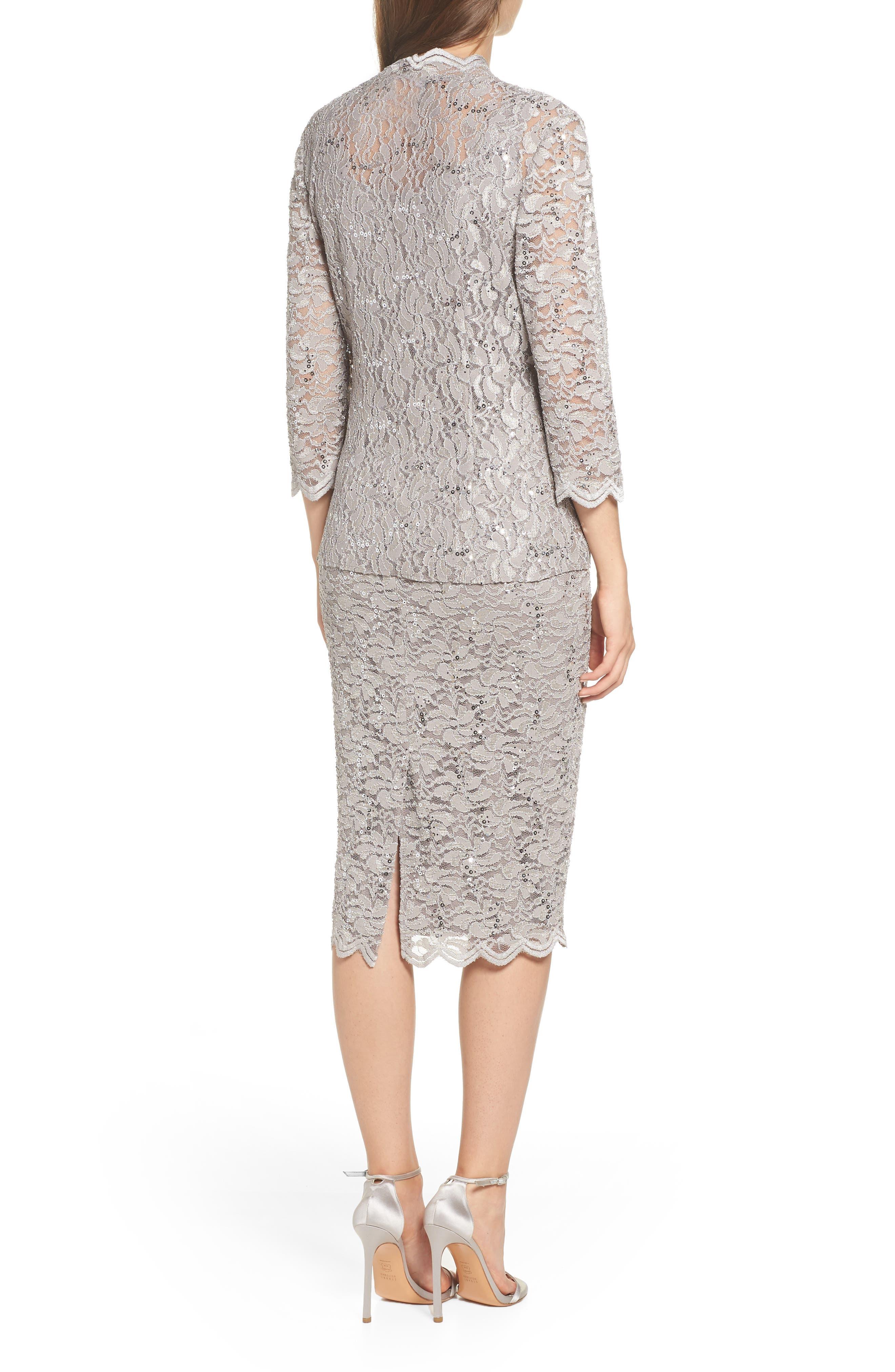 Lace Dress & Jacket,                             Alternate thumbnail 2, color,                             MINK
