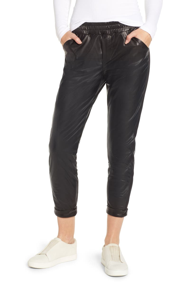 Cuffed Tapered Jogger Pants, Main, color, BLACK