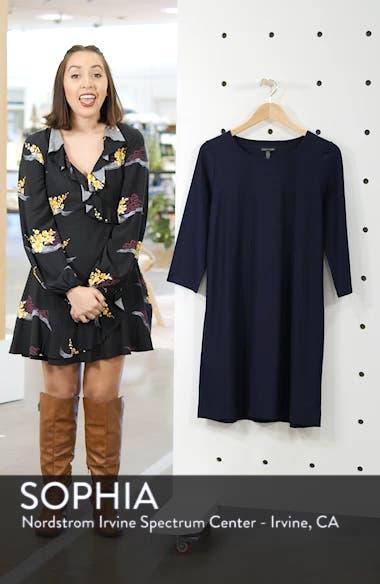 Scoop Neck Knee Length Shift Dress, sales video thumbnail