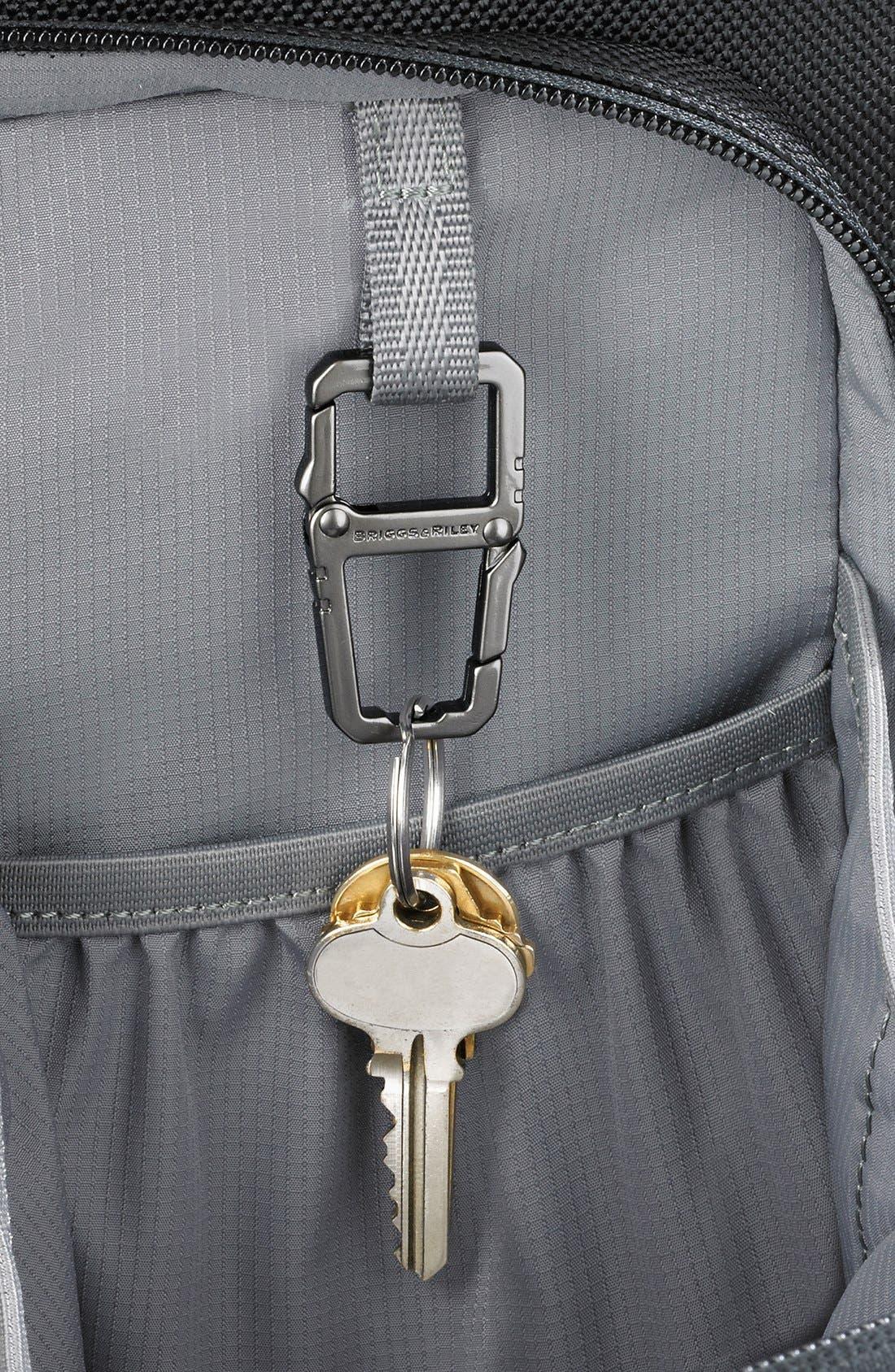 Medium Ballistic Nylon Backpack,                             Alternate thumbnail 2, color,