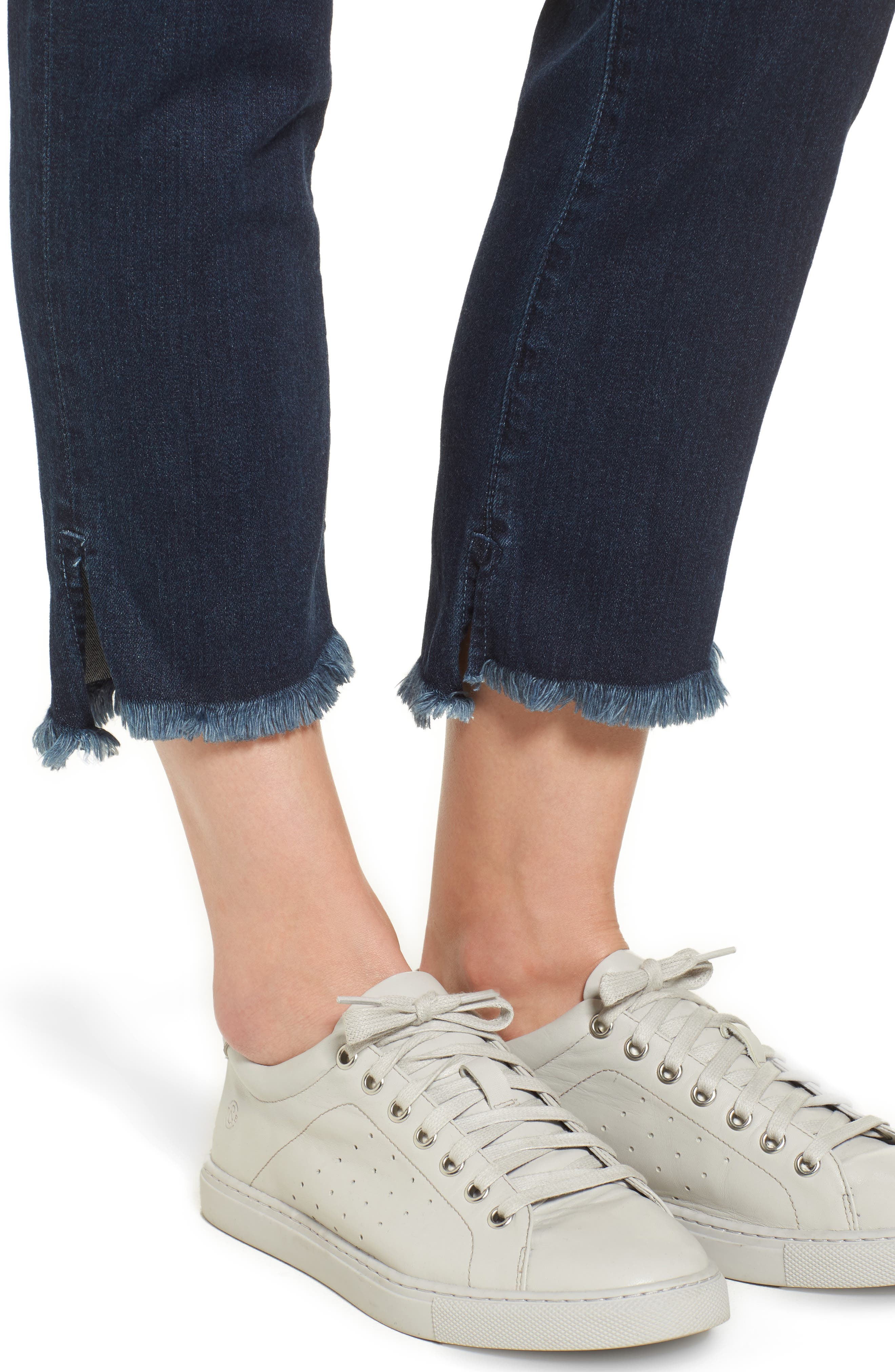 Step-Hem Straight Jeans,                             Alternate thumbnail 4, color,                             405