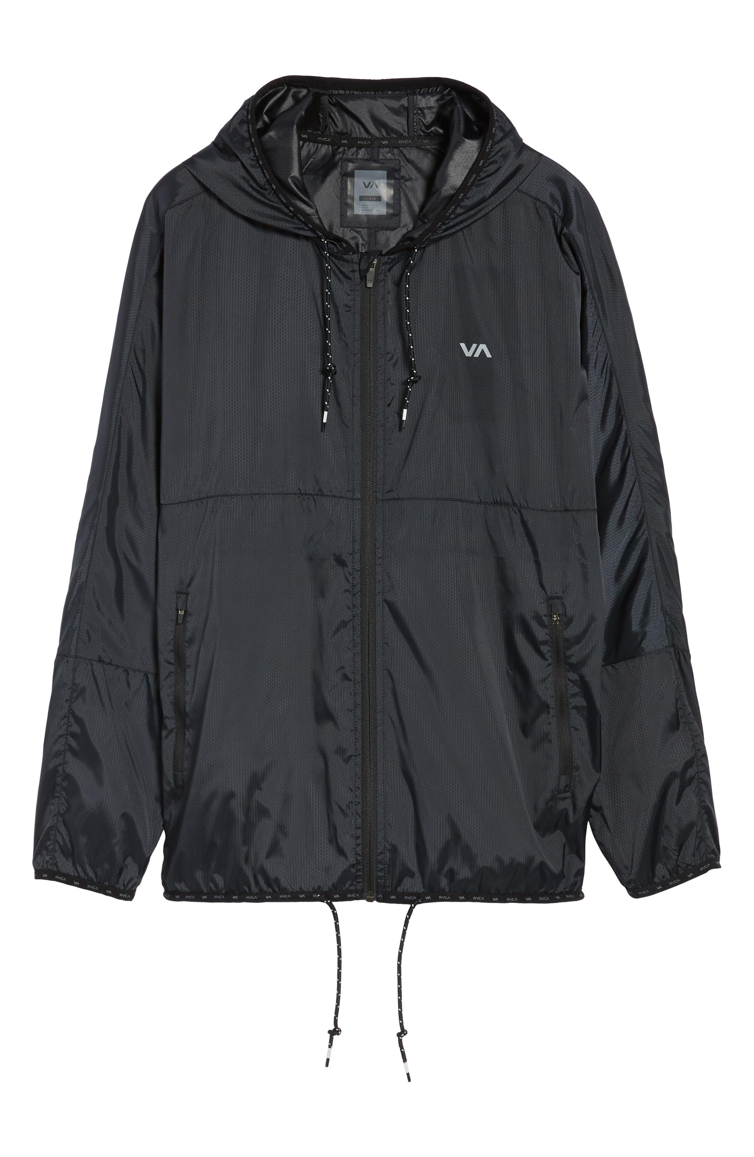 Hexstop II Water Repellent Hooded Jacket,                             Alternate thumbnail 5, color,                             001